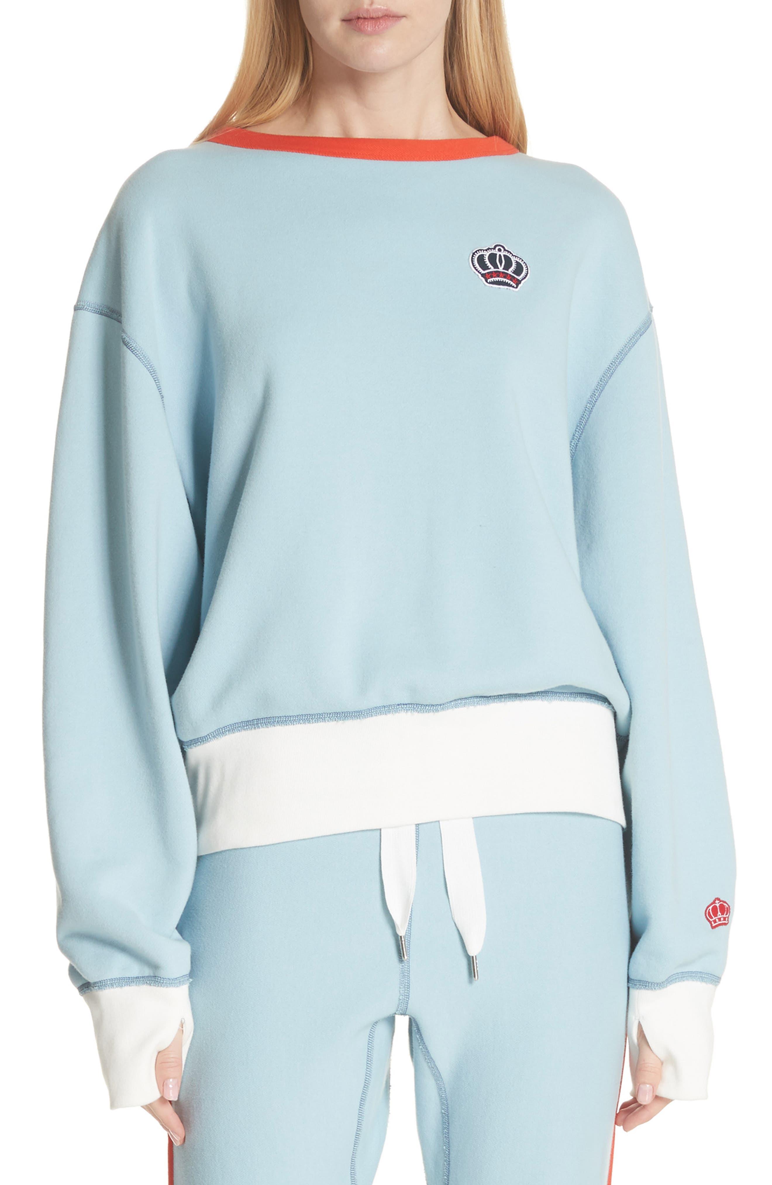 Combat Sweatshirt,                         Main,                         color, Pale Aqua