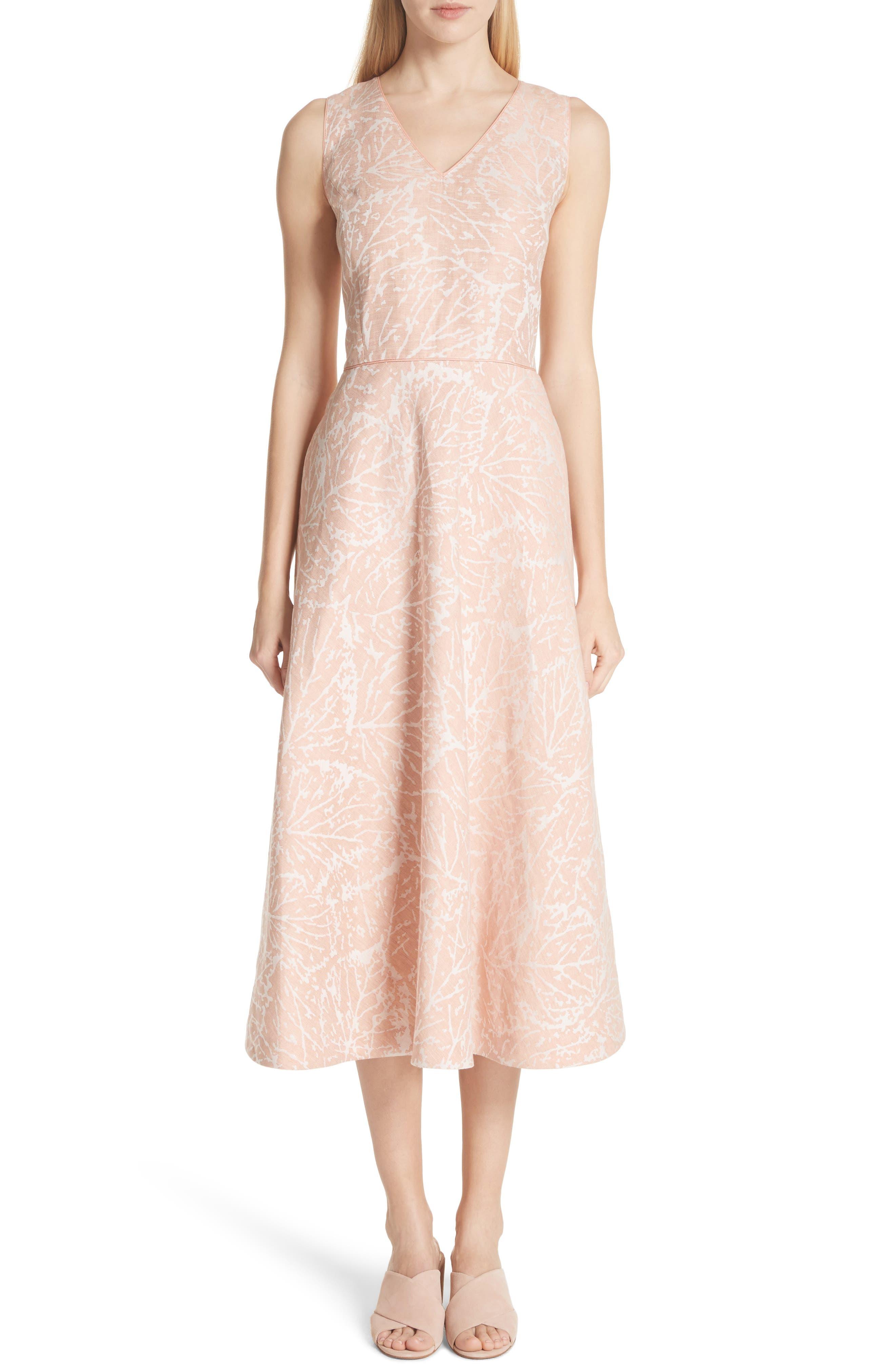 Lafayette 148 New York Jayda Print Linen Dress