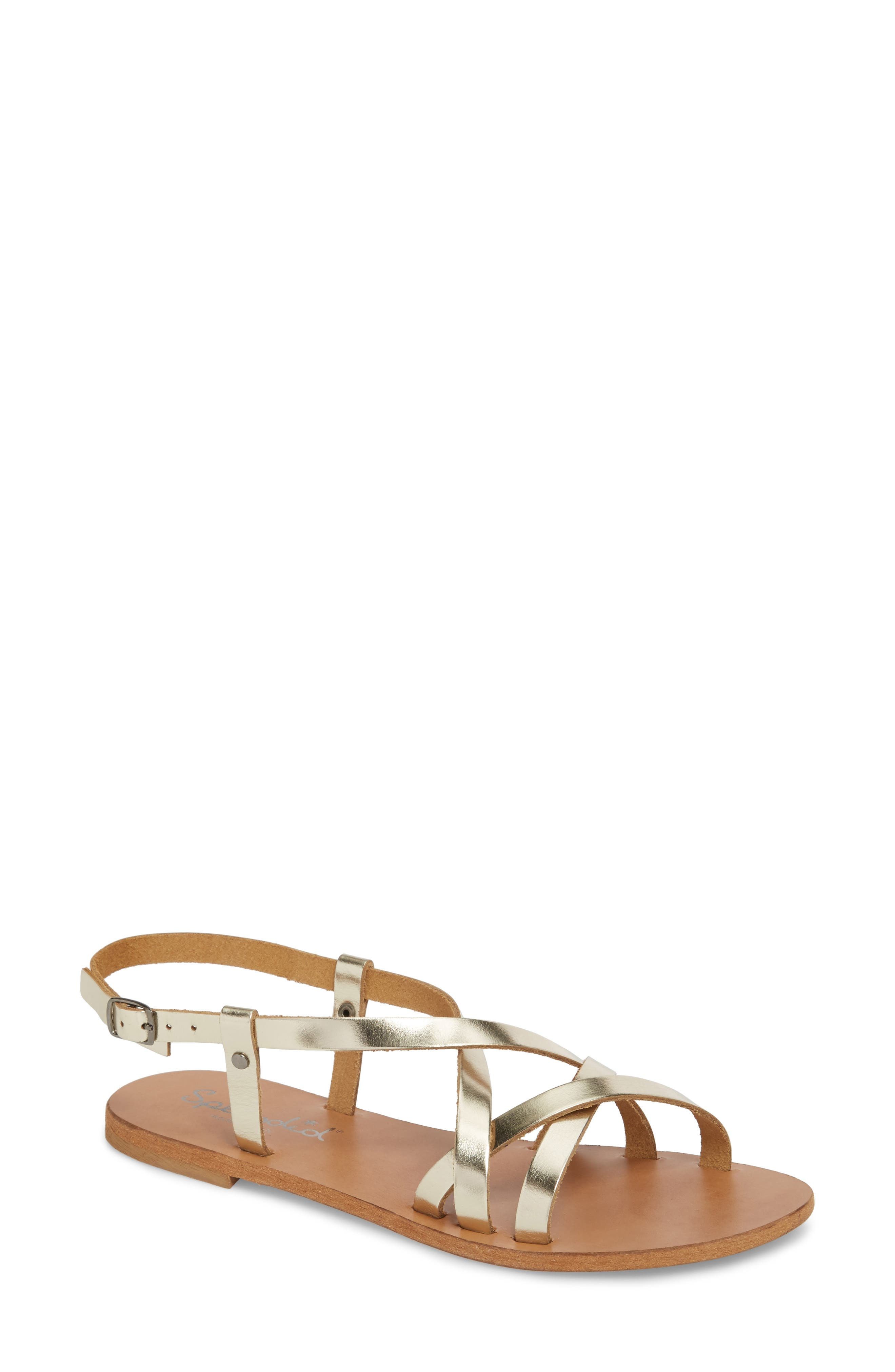 Bowen Sandal,                             Main thumbnail 1, color,                             Platino Leather