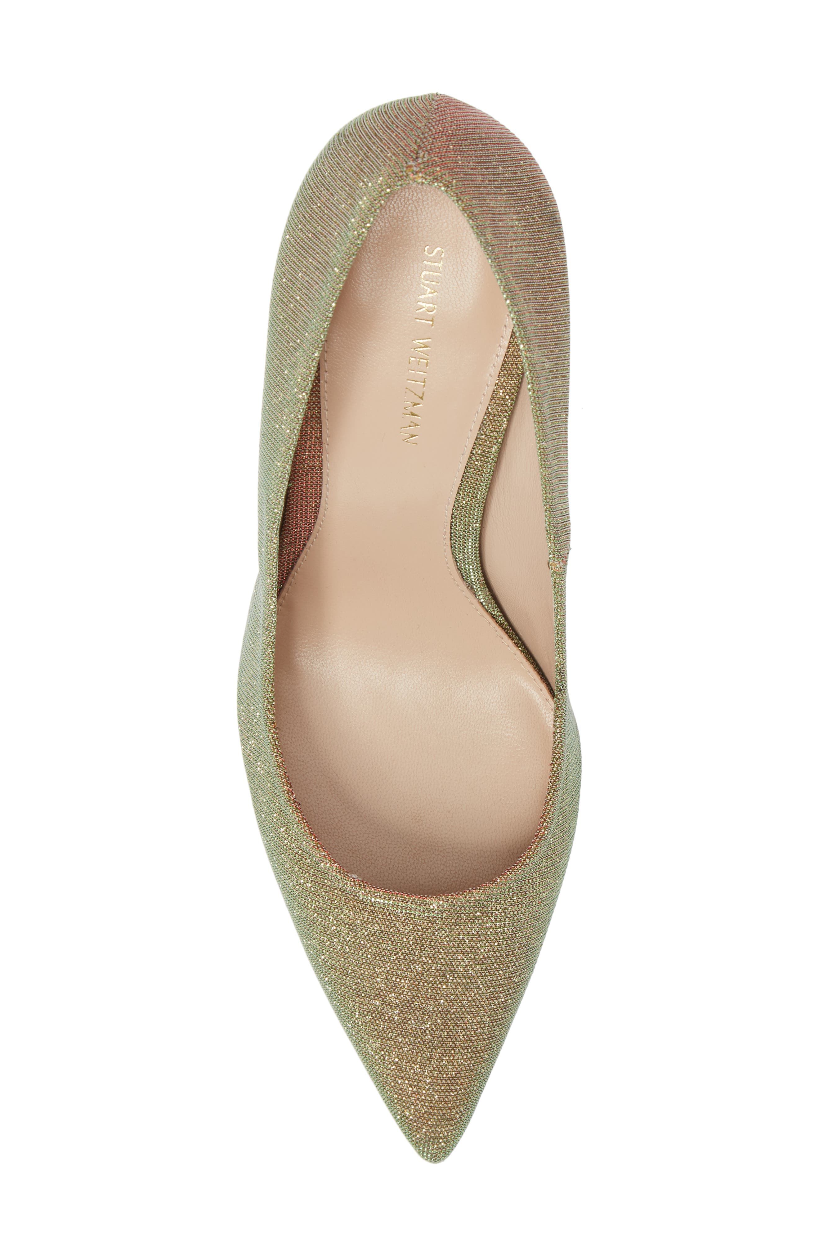 Chicster Pointy Toe Pump,                             Alternate thumbnail 5, color,                             Gold Multi Nighttime