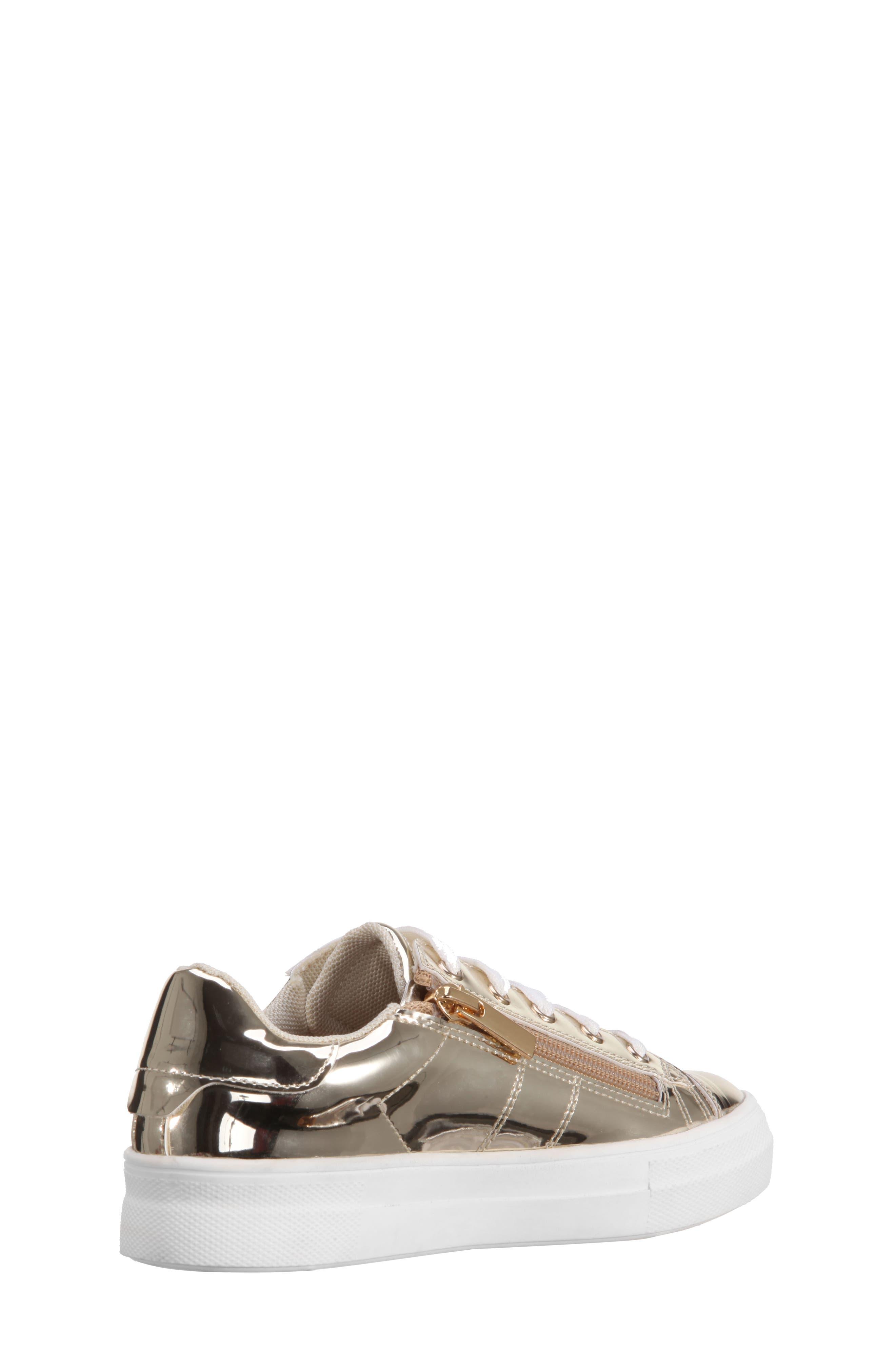Rochella Metallic Sneaker,                             Alternate thumbnail 2, color,                             Platino Mirror Metallic