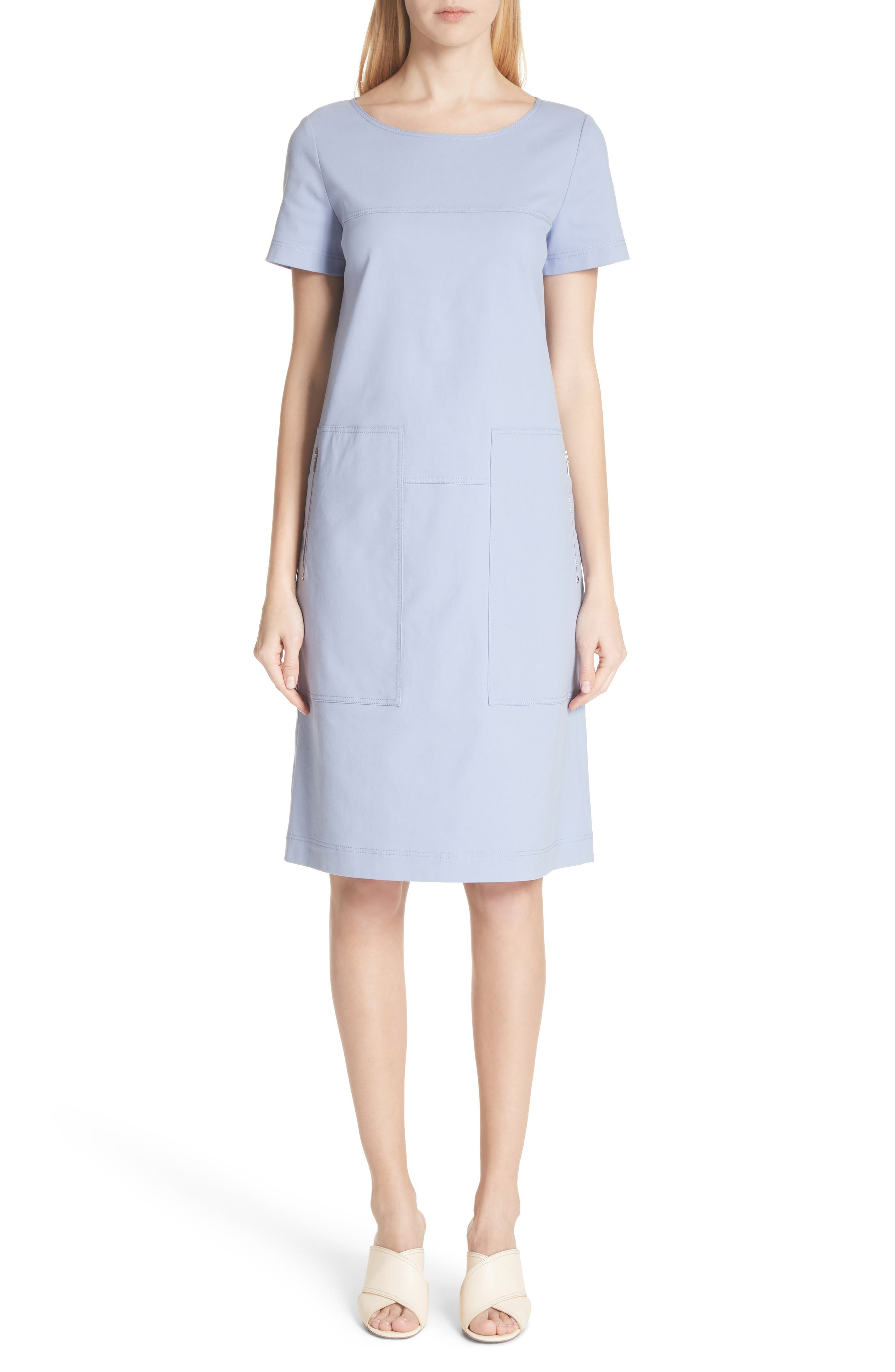Farah Catalina Stretch Canvas Dress,                         Main,                         color, Periwinkle