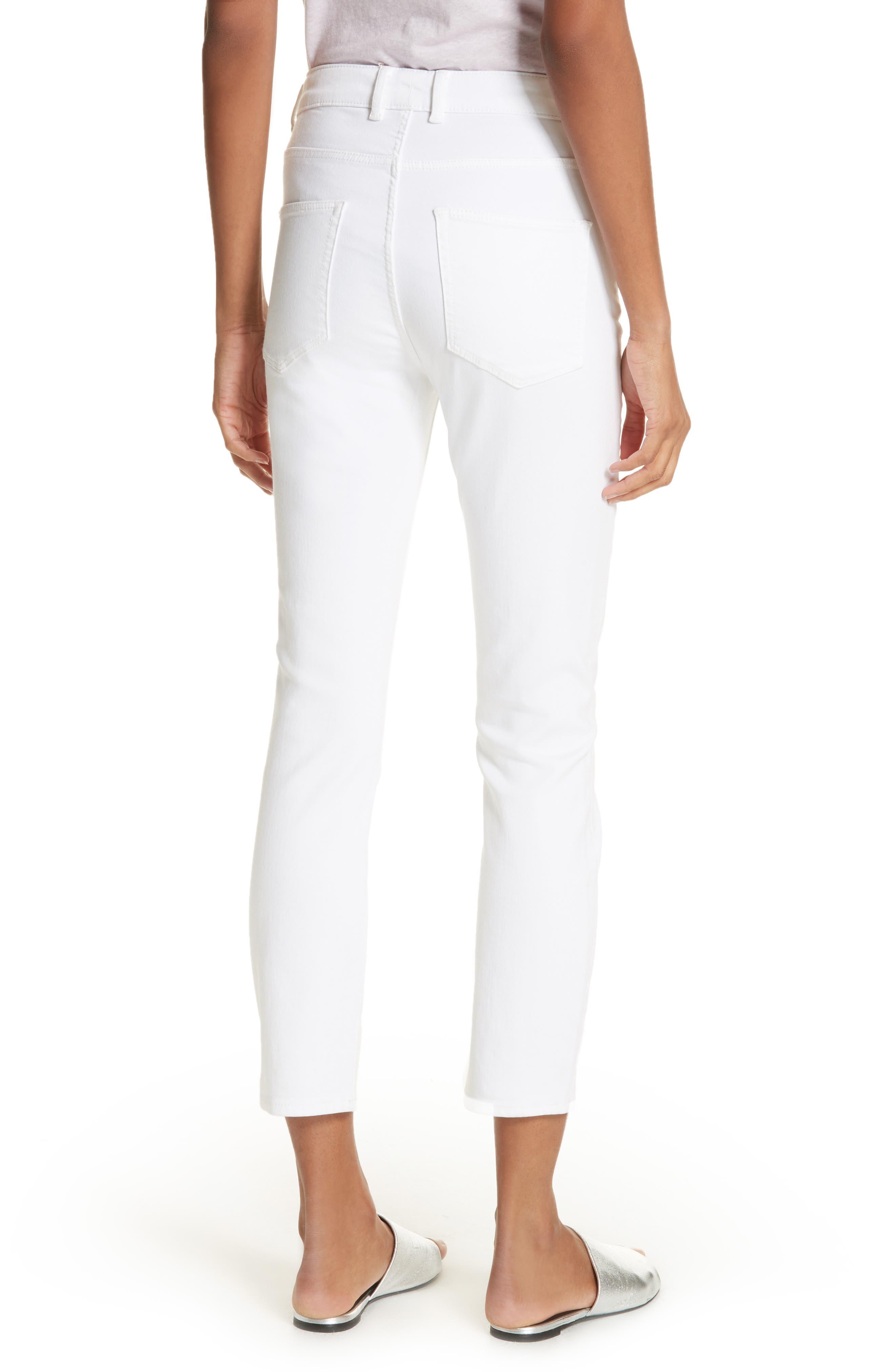 Clemence Crop Jeans,                             Alternate thumbnail 2, color,                             Milk