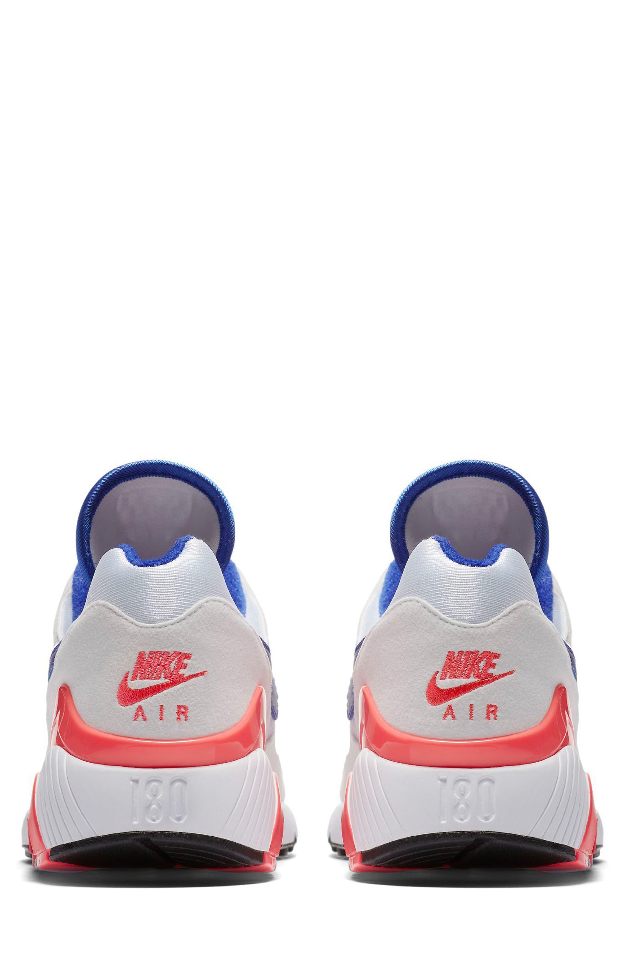 Air Max 180 Sneaker,                             Alternate thumbnail 2, color,                             White/ Ultramarine