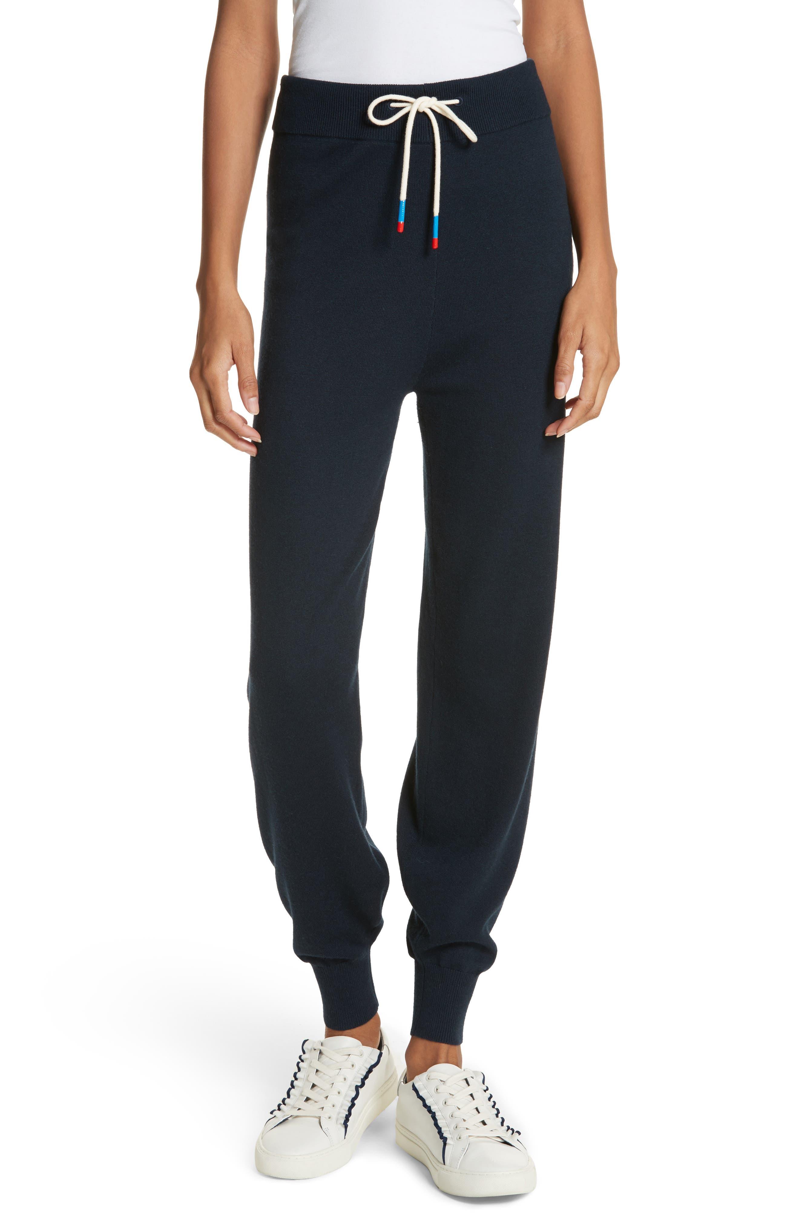 Performance Cashmere Blend Lounge Pants,                             Main thumbnail 1, color,                             Tory Navy