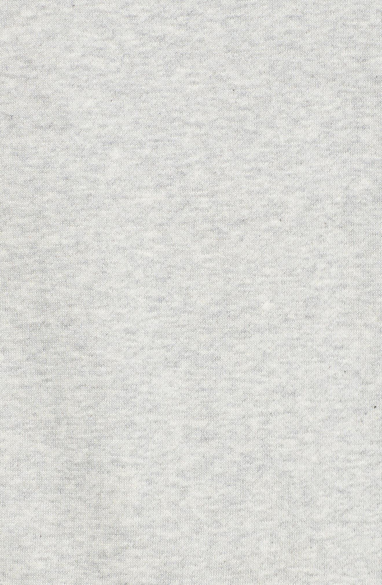 Rafaella Sweatshirt,                             Alternate thumbnail 6, color,                             Light Grey / Peacoat/ Red