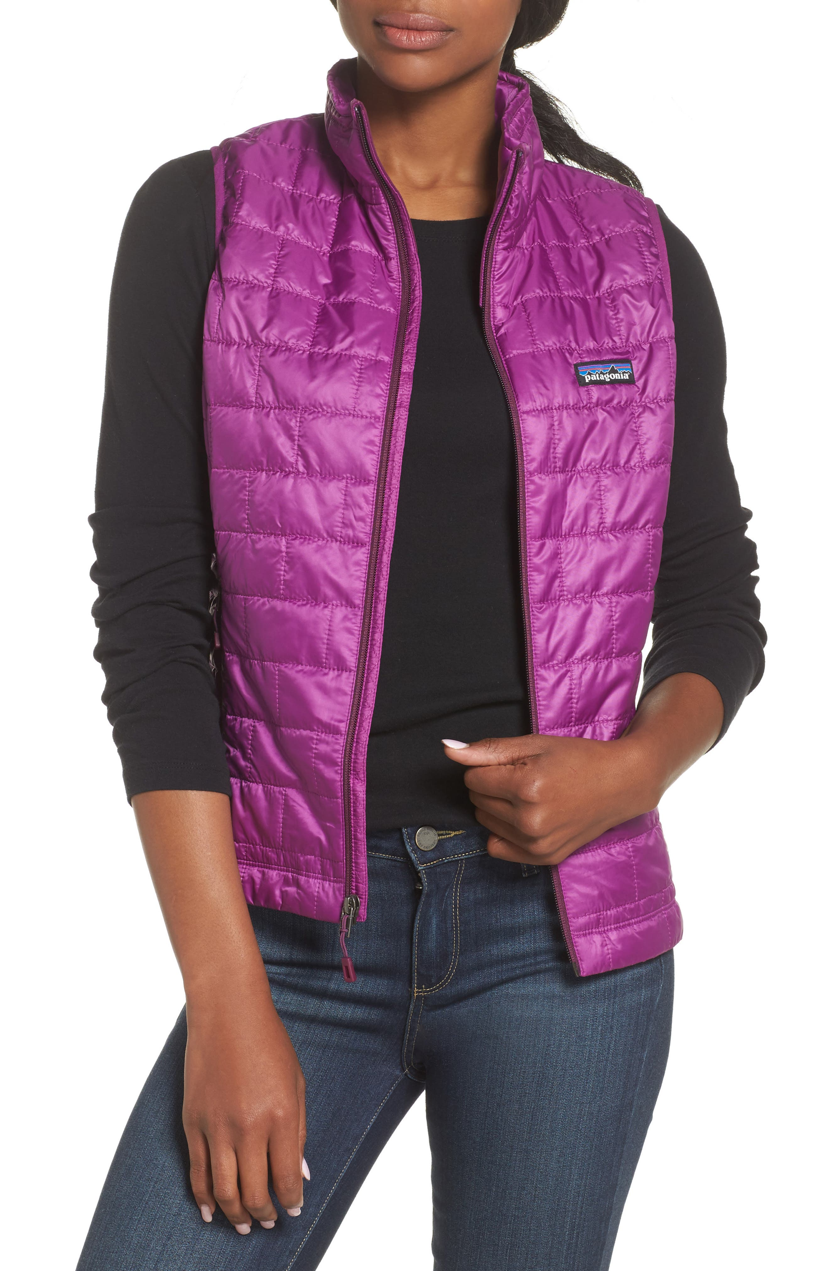 'Nano Puff<sup>®</sup>' Insulated Vest,                         Main,                         color, Ikat Purple