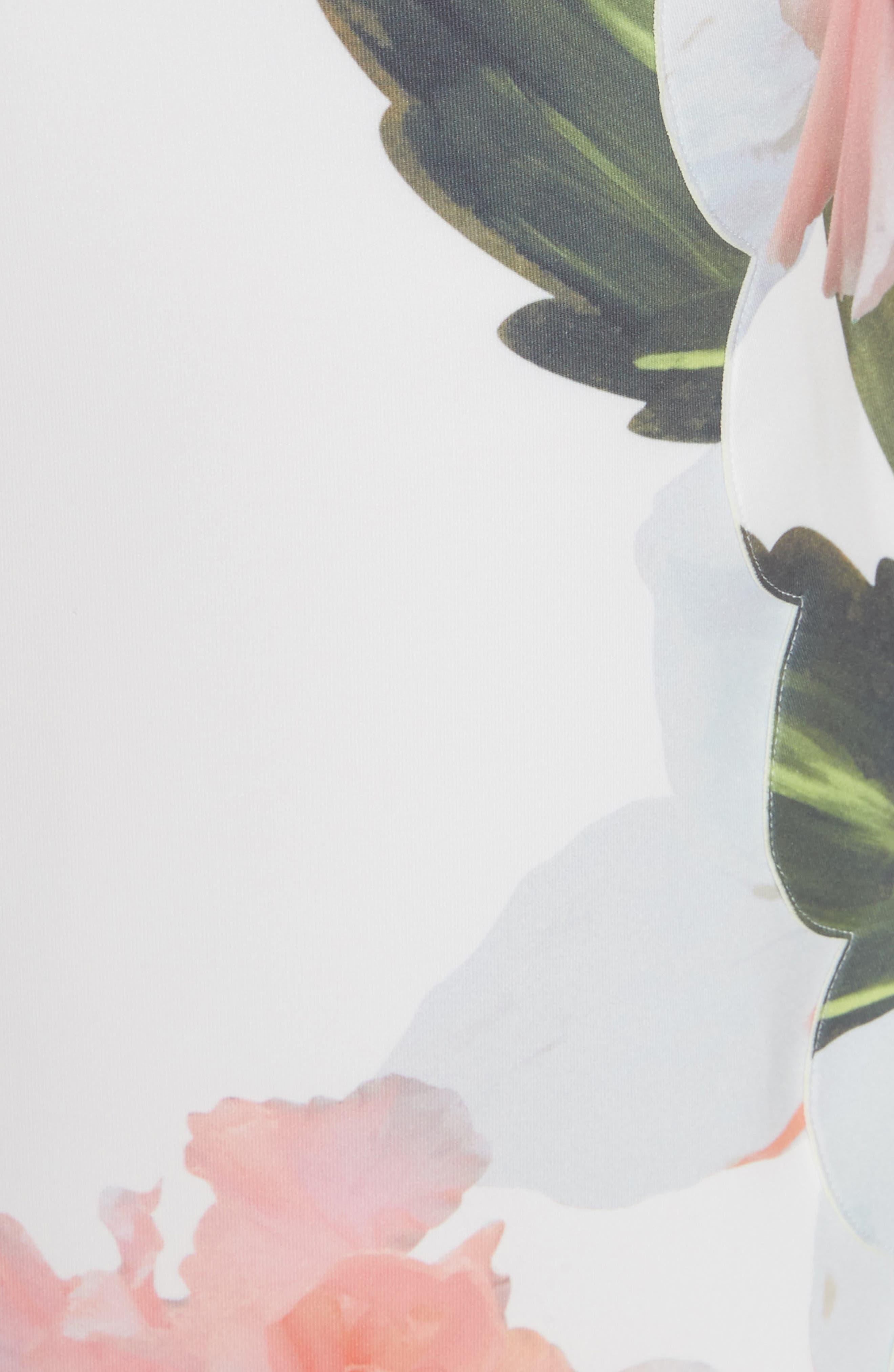 Chatsworth Bloom Tunic Dress,                             Alternate thumbnail 4, color,                             White