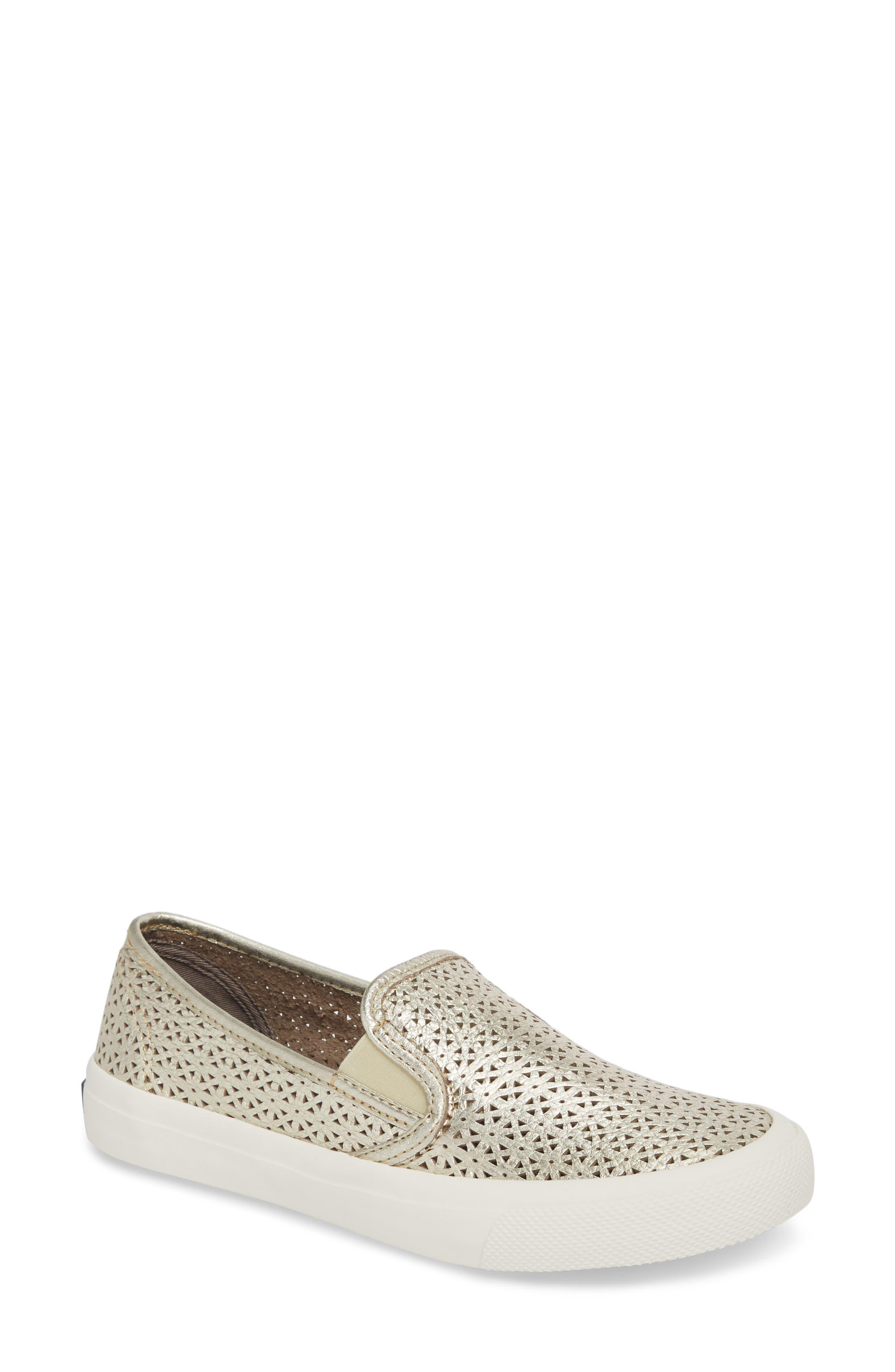 Sperry Seaside Nautical Perforated Slip-On Sneaker (Women)