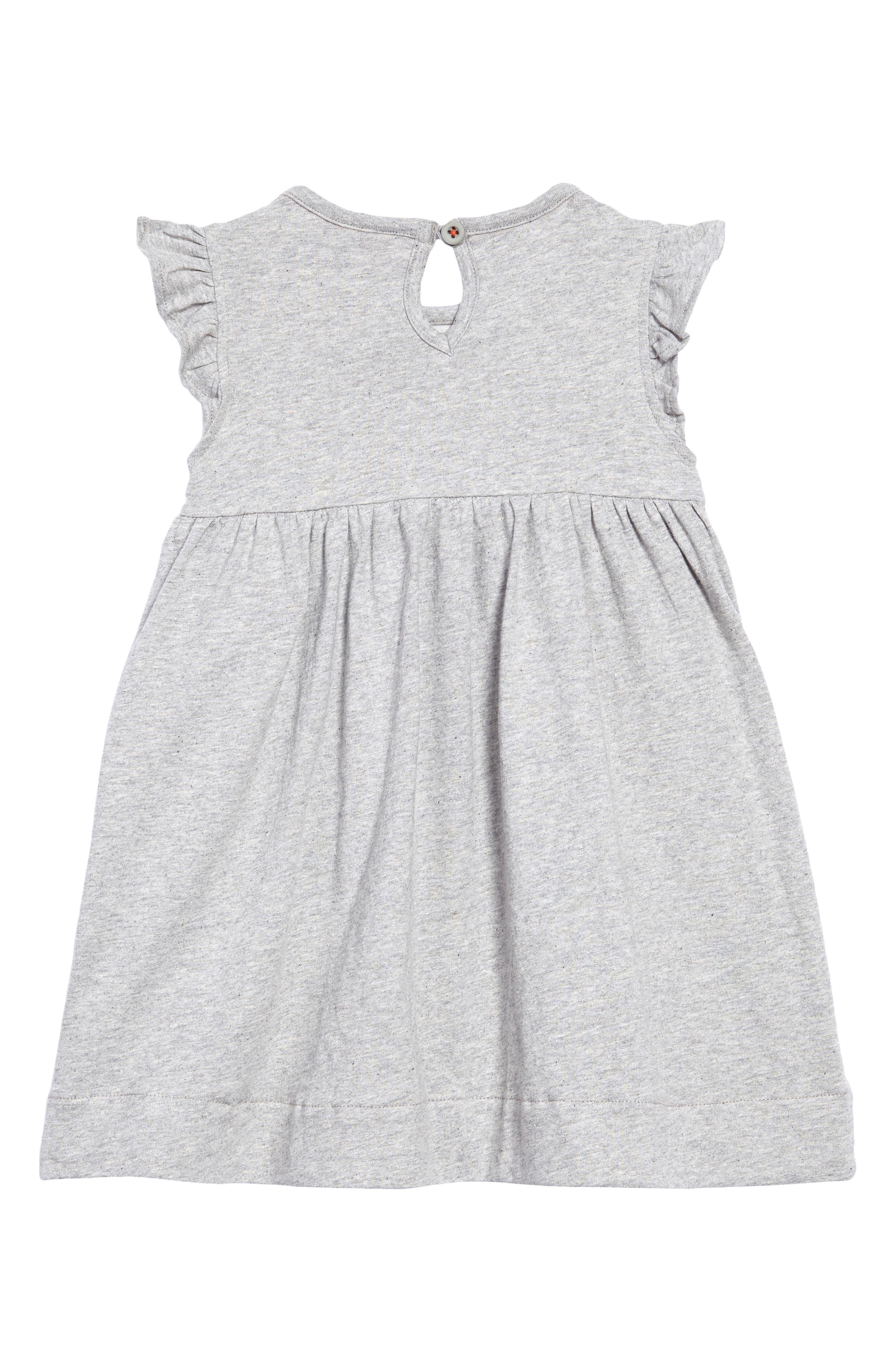 Appliqué Pocket Dress,                             Alternate thumbnail 2, color,                             Grey Marl
