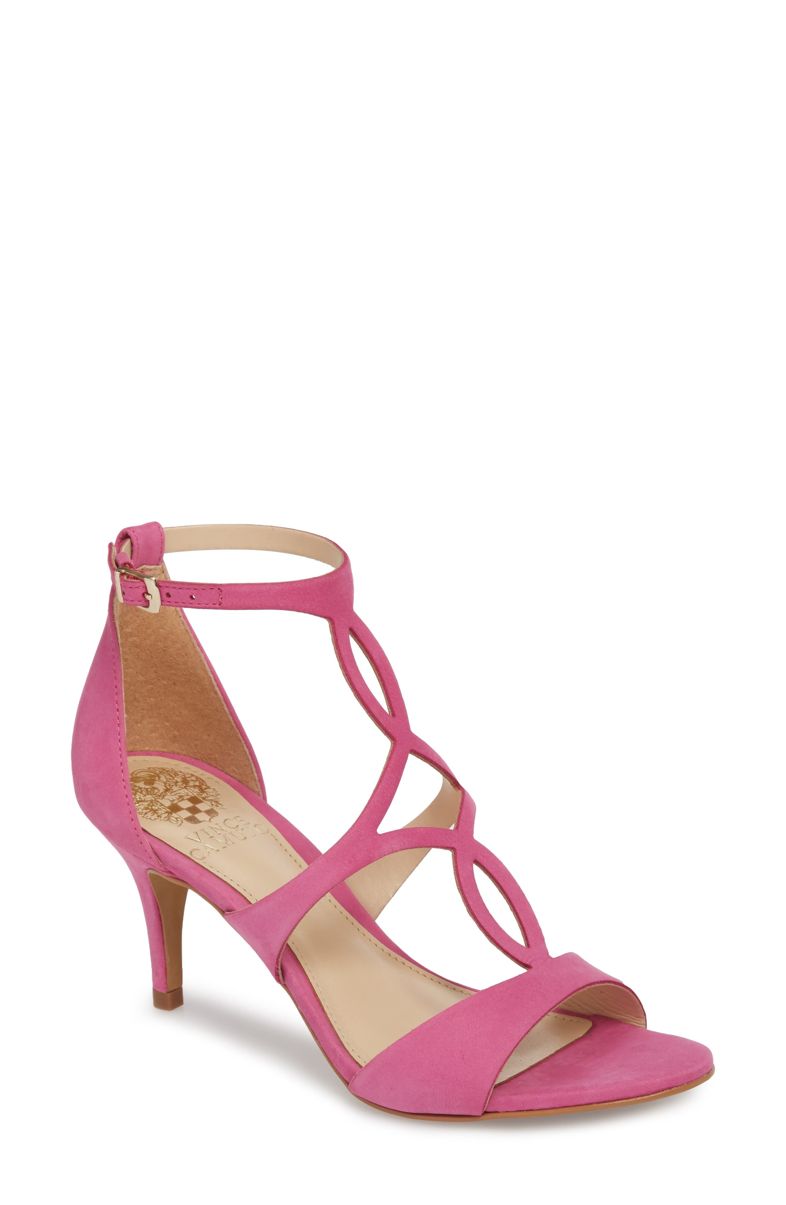 Payto Sandal,                             Main thumbnail 1, color,                             Pink Leather