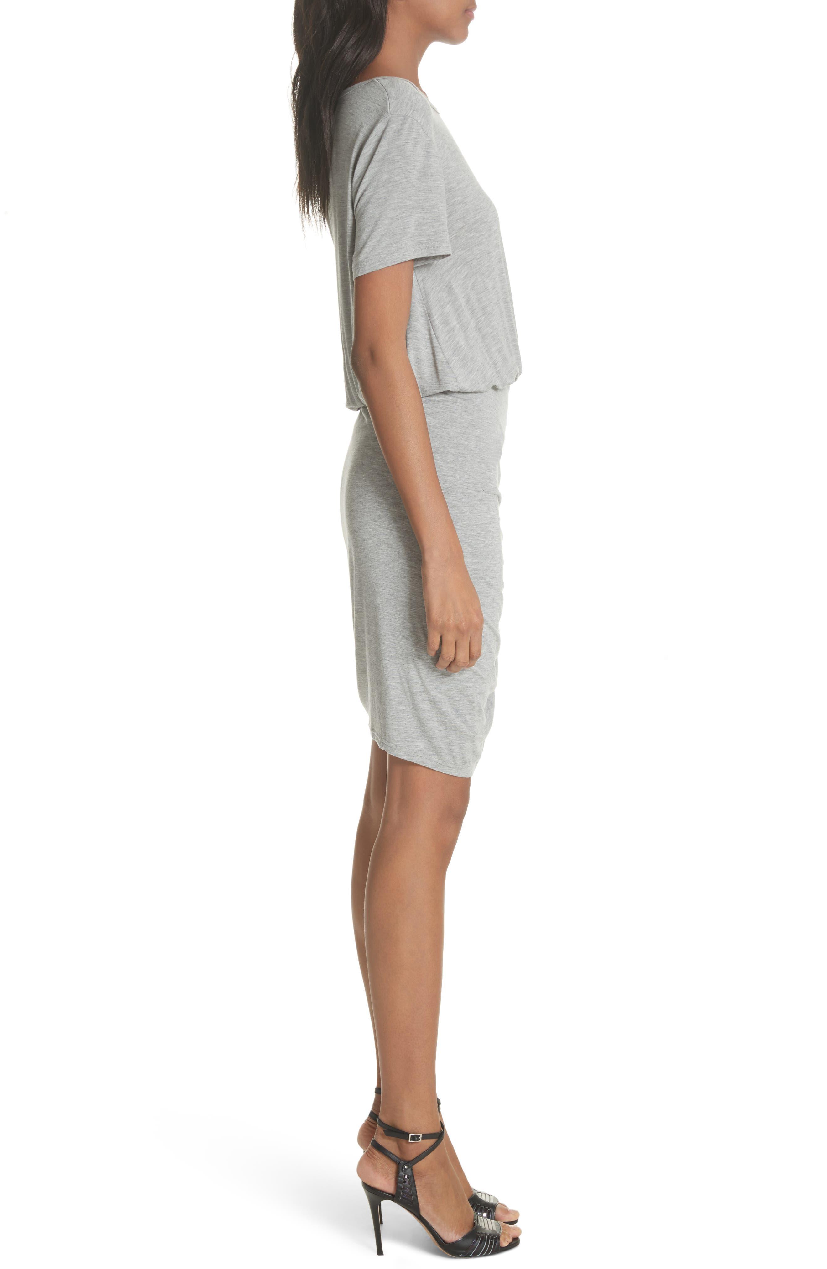 Yari Blouson Dress,                             Alternate thumbnail 3, color,                             Grey