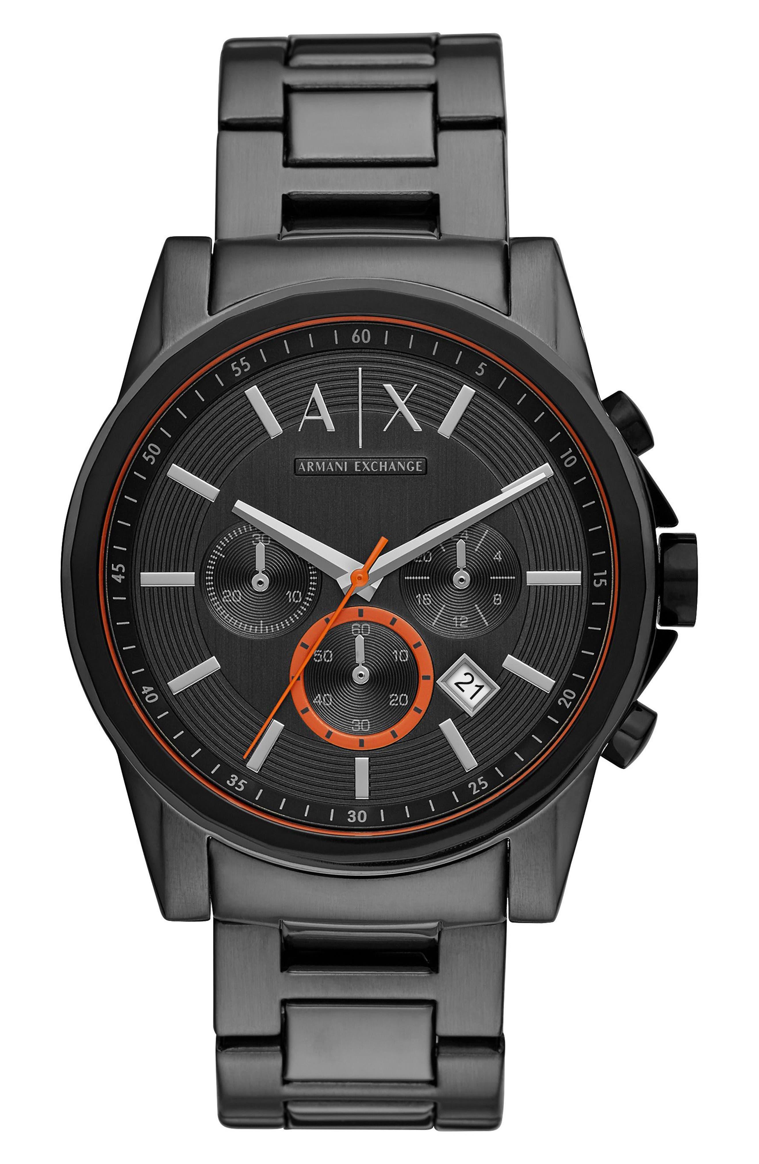 Chronograph Bracelet Watch, 44mm,                         Main,                         color, Gunmetal/ Gunmetal