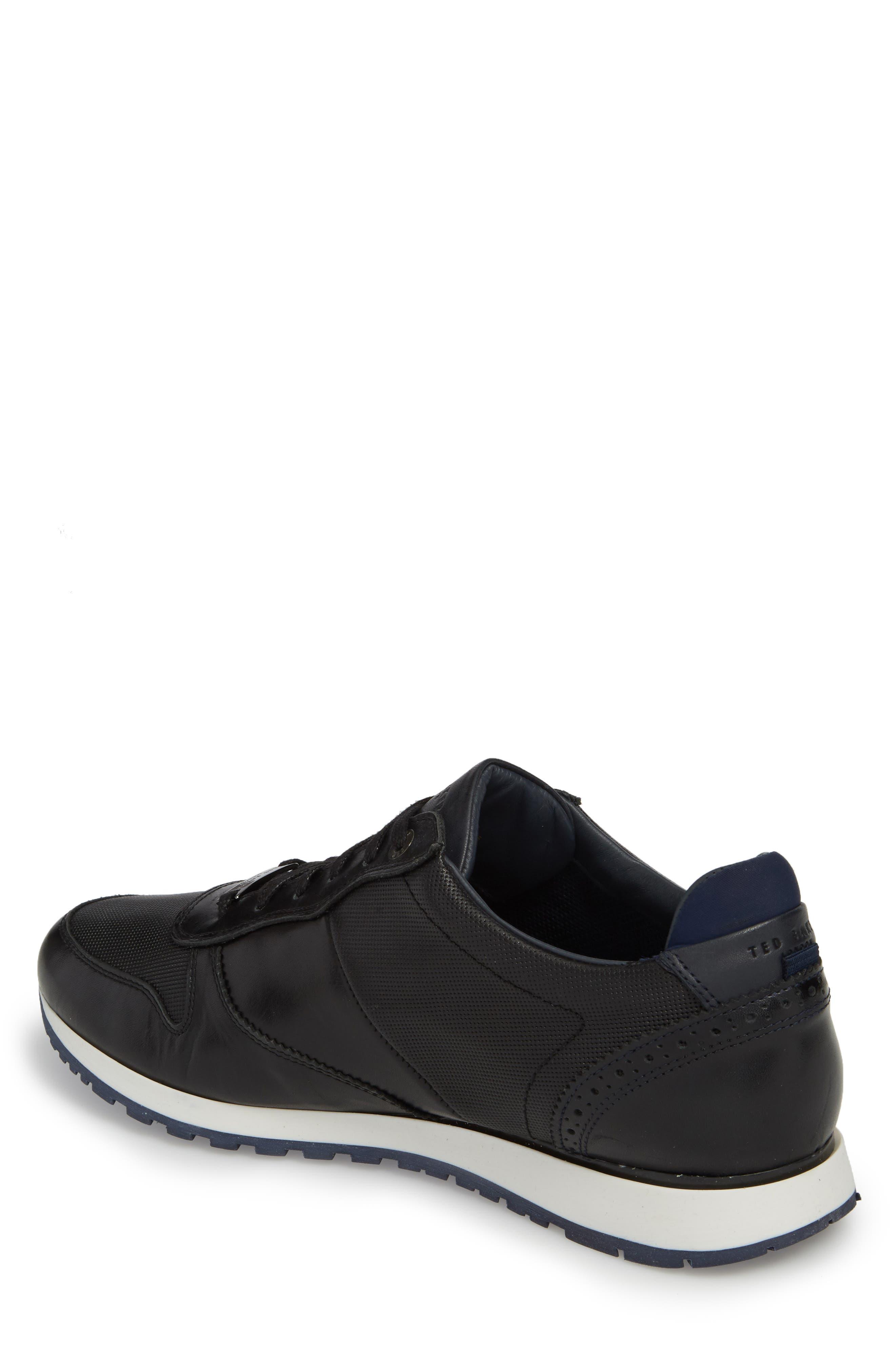 Shindl Sneaker,                             Alternate thumbnail 2, color,                             Black Leather