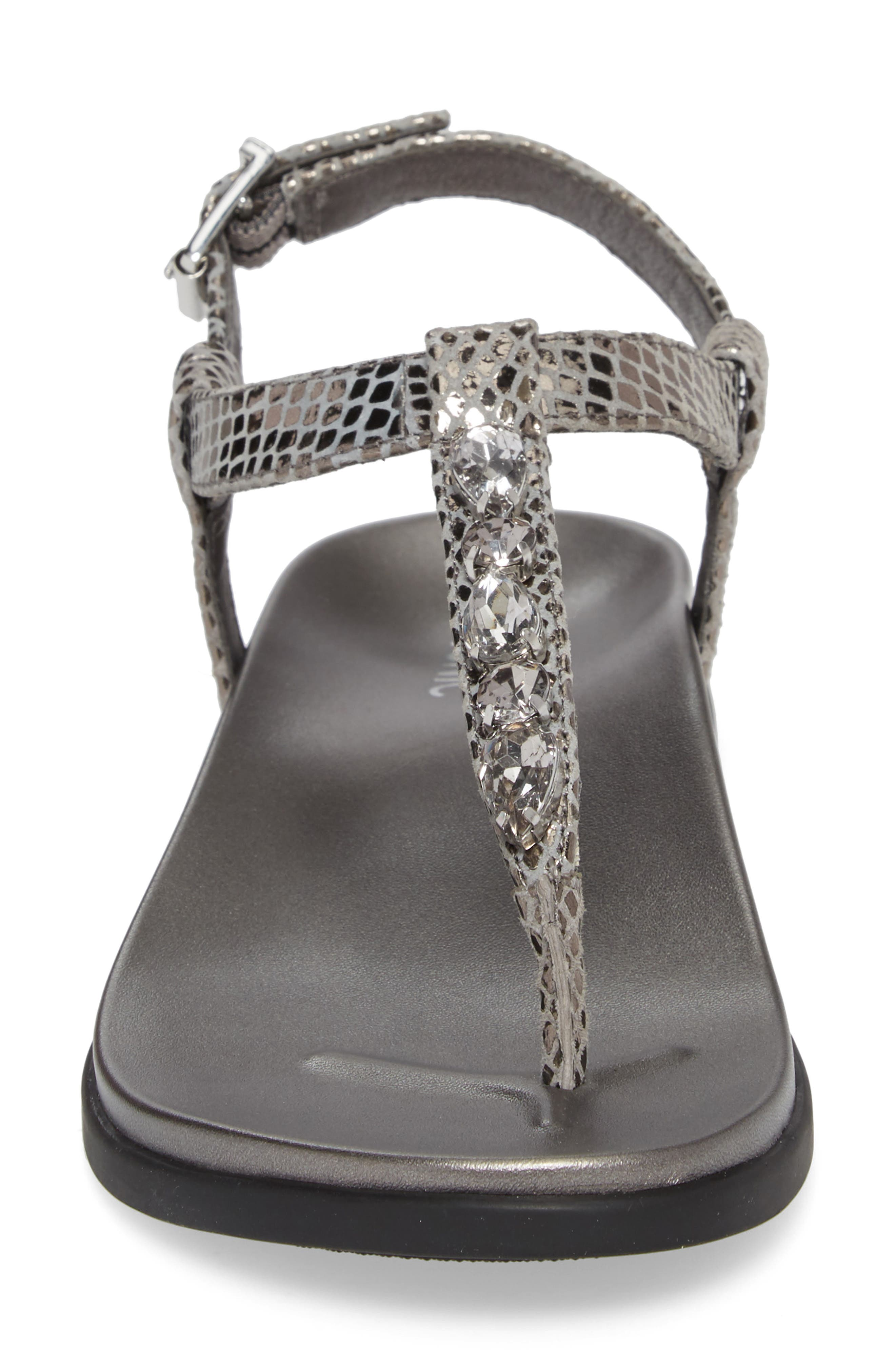 Boca Sandal,                             Alternate thumbnail 4, color,                             Pewter Snake Leather