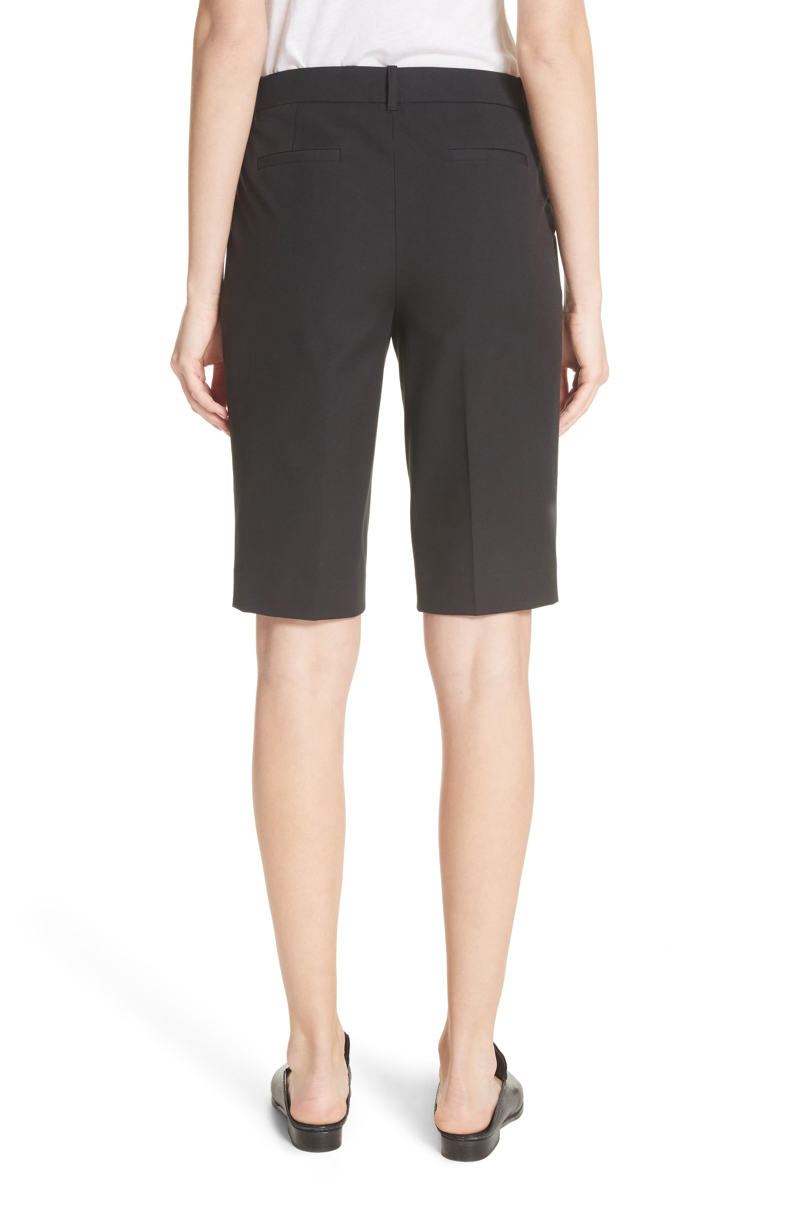 Manhattan Bermuda Shorts,                             Alternate thumbnail 2, color,                             Black