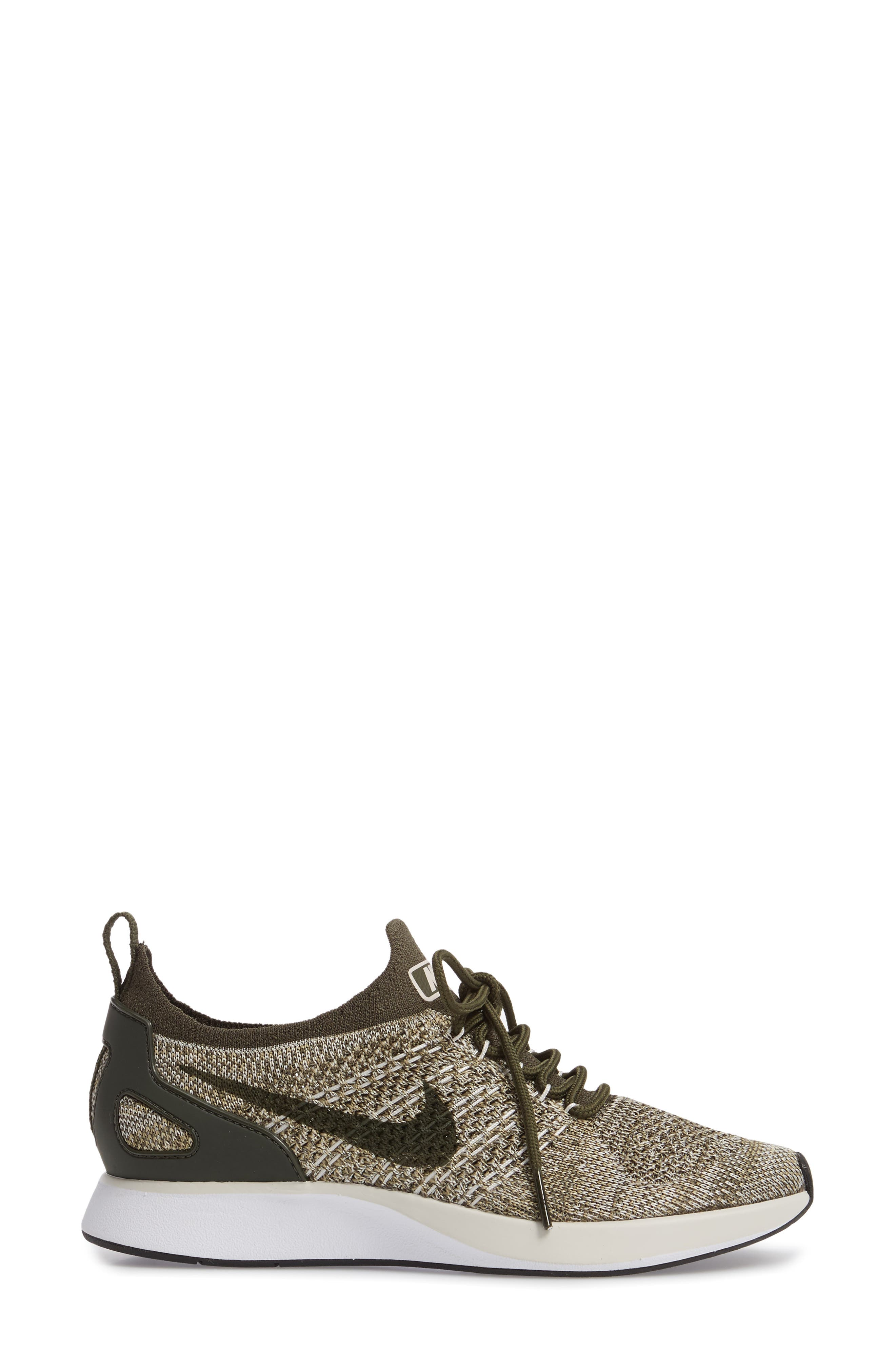 Air Zoom Mariah Flyknit Racer Sneaker,                             Alternate thumbnail 3, color,                             Cargo Khaki/ Cargo Khaki