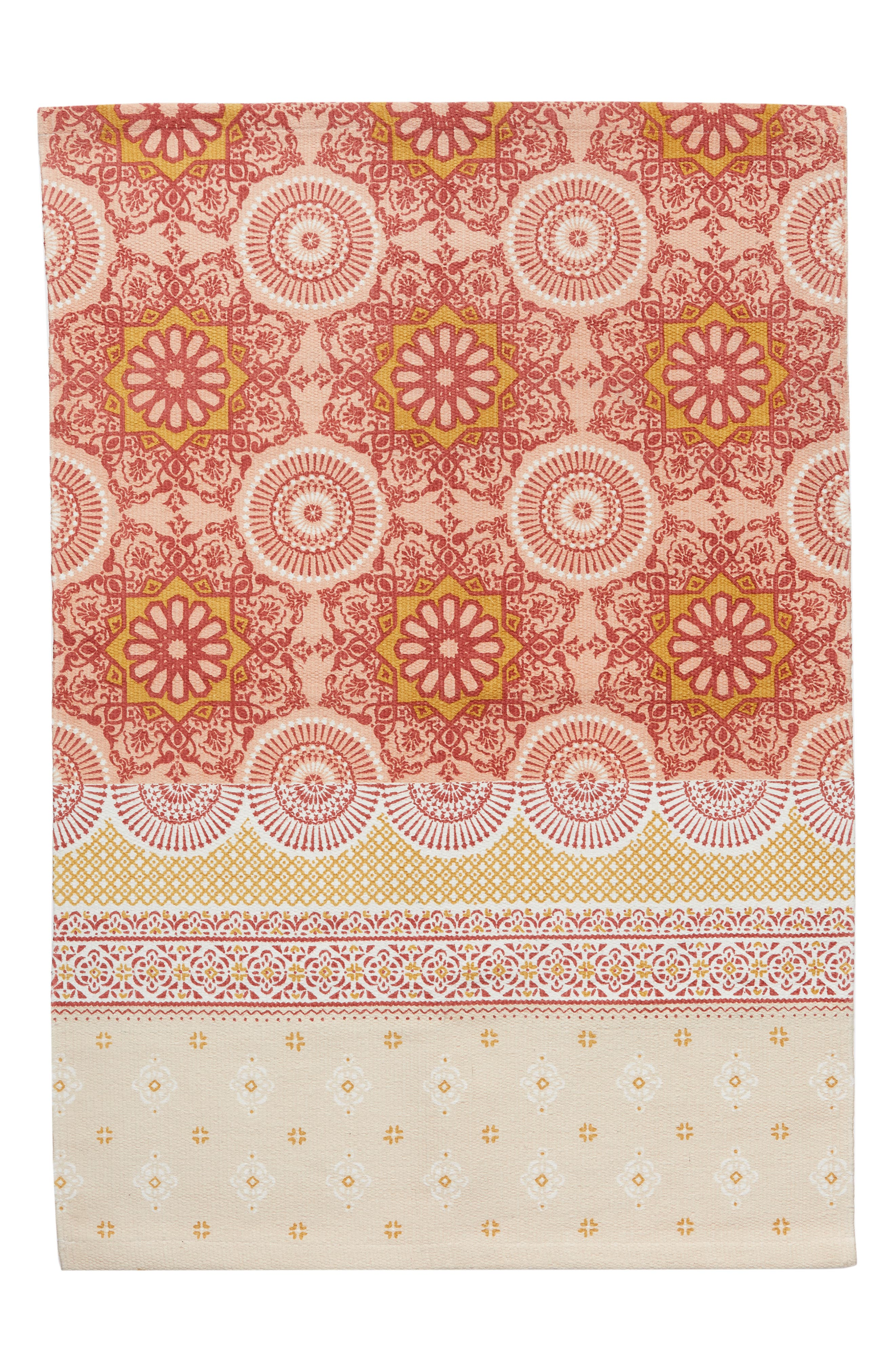 Moroccan Rug,                             Main thumbnail 1, color,                             Coral Muted