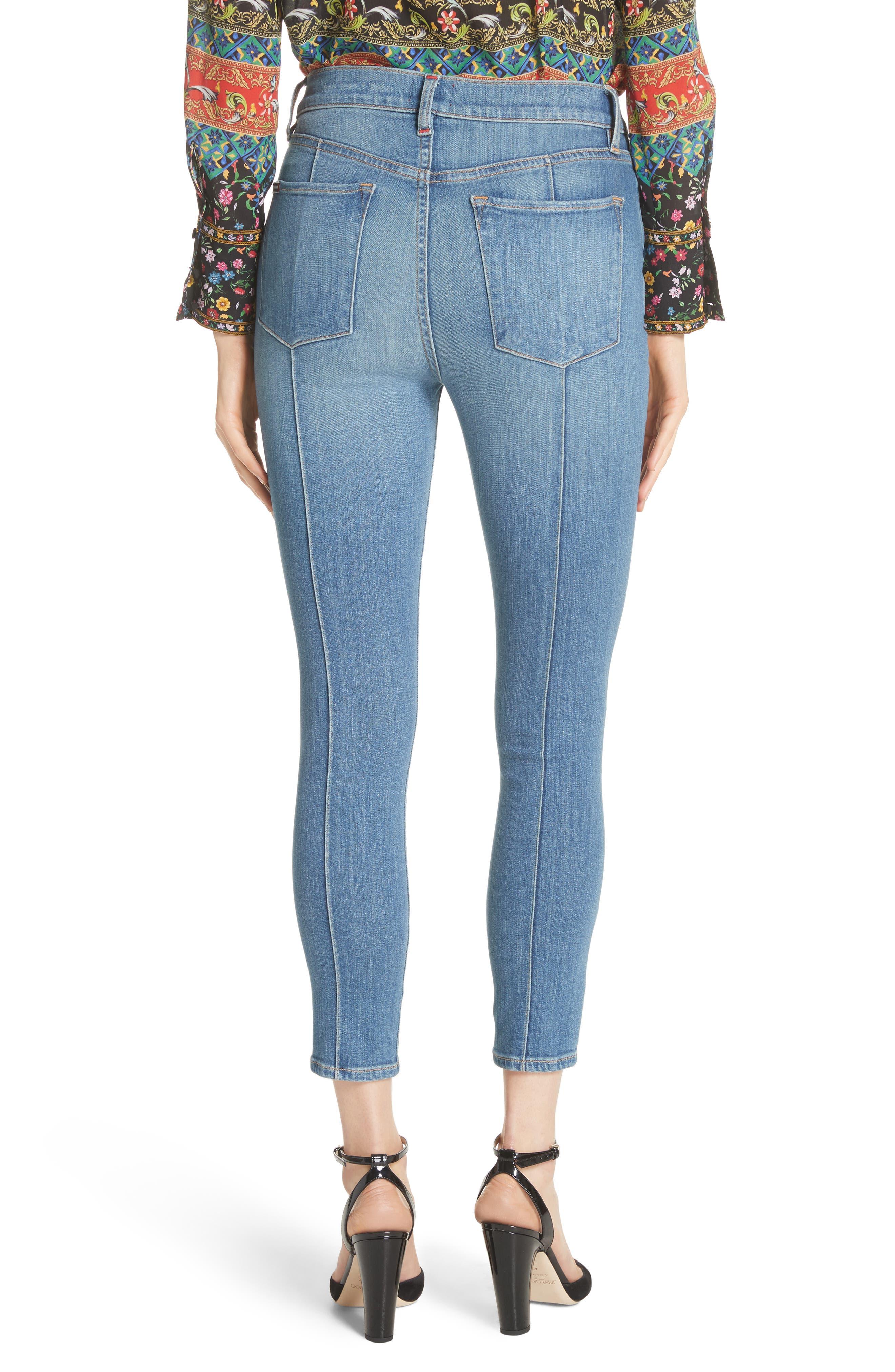 AO.LA Good High Waist Pintuck Skinny Jeans,                             Alternate thumbnail 2, color,                             Roadhouse Blues