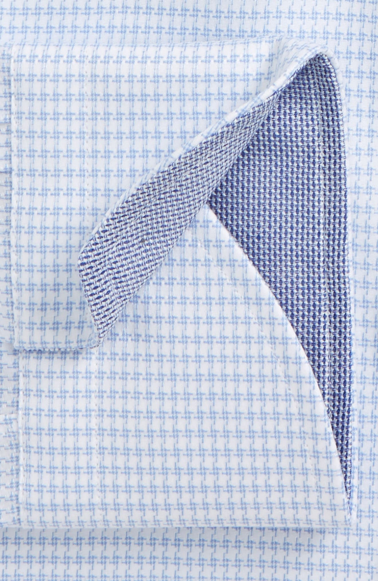 Regular Fit Houndstooth Dress Shirt,                             Alternate thumbnail 2, color,                             Light Blue