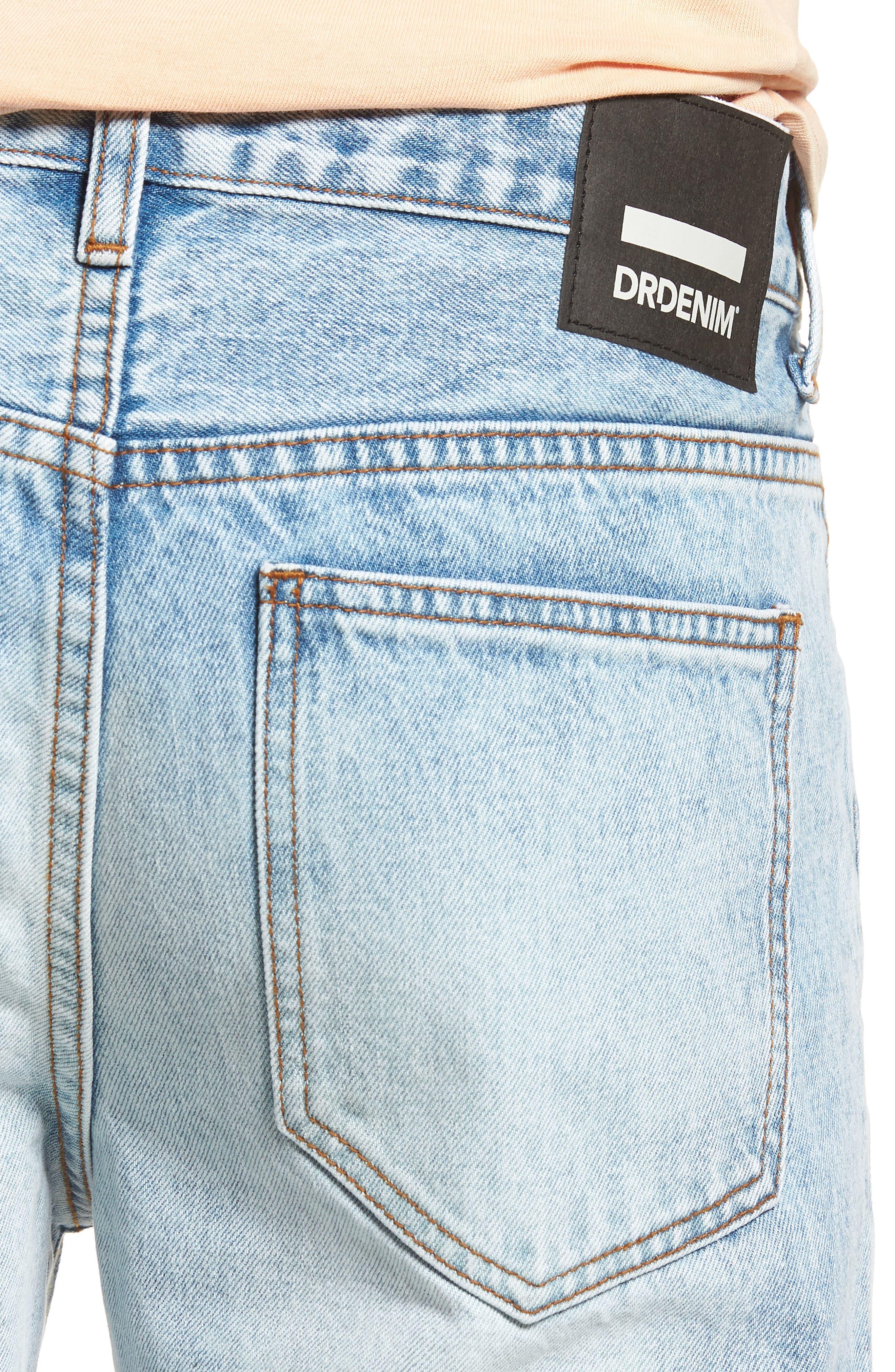 Otis Straight Leg Jeans,                             Alternate thumbnail 4, color,                             Light Blue Wash