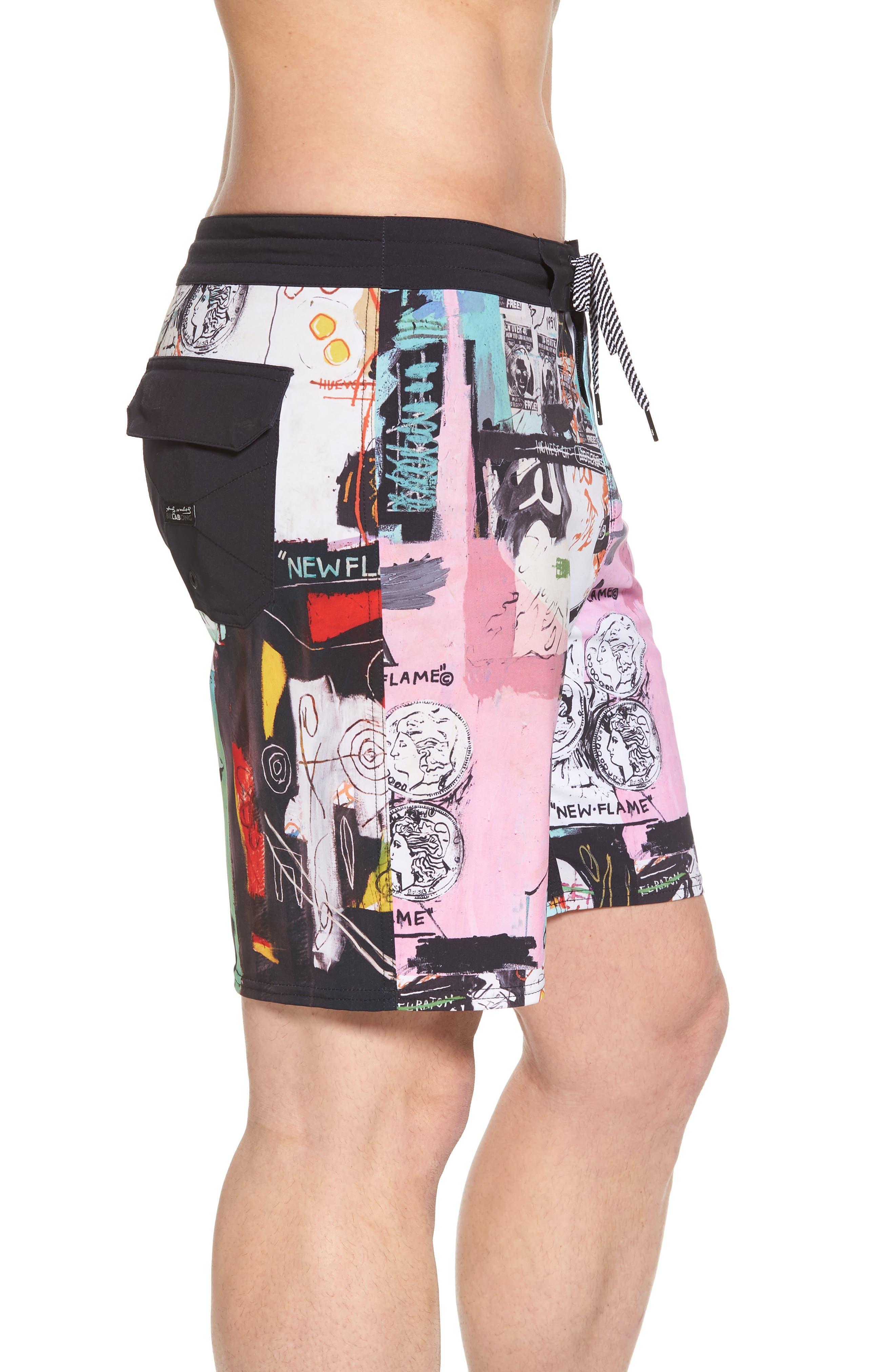 x Warhol Factory X Board Shorts,                             Alternate thumbnail 3, color,                             Multi