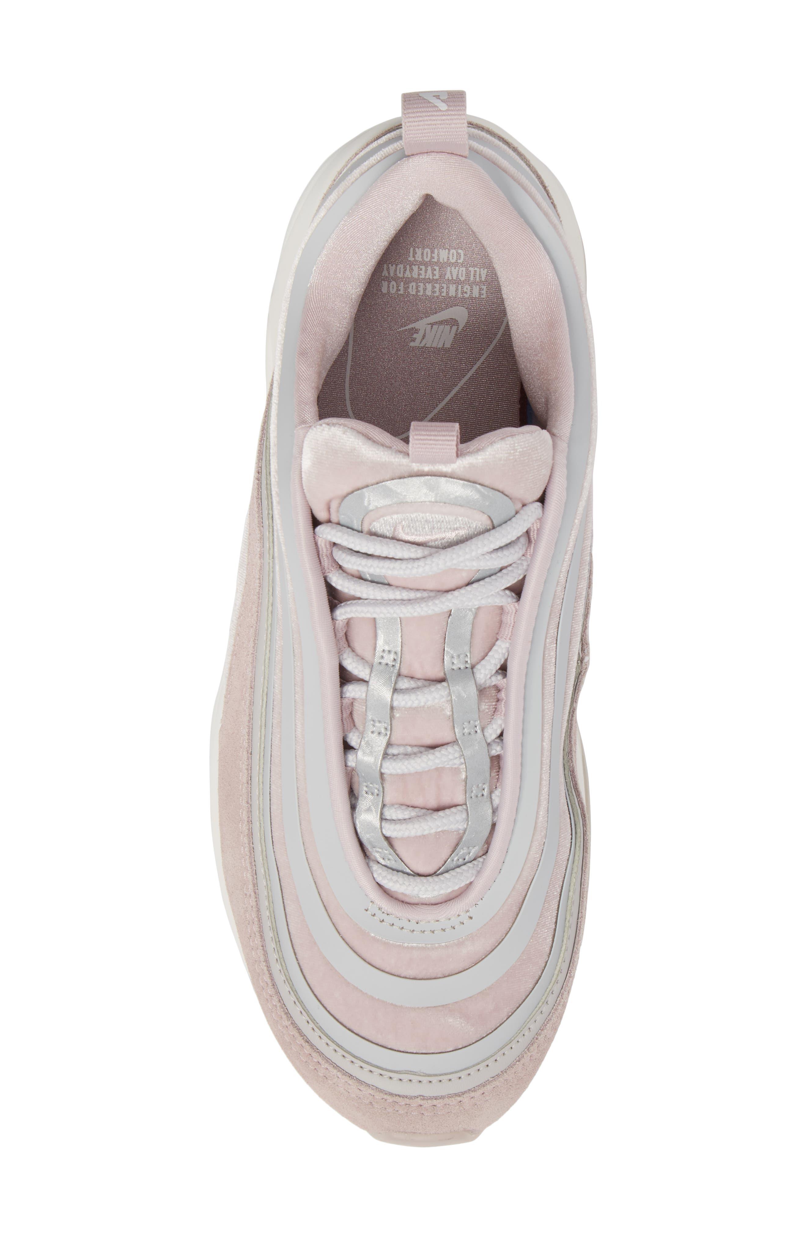 Air Max 97 Ultra '17 LX Sneaker,                             Alternate thumbnail 5, color,                             Vast Grey/ Summit White