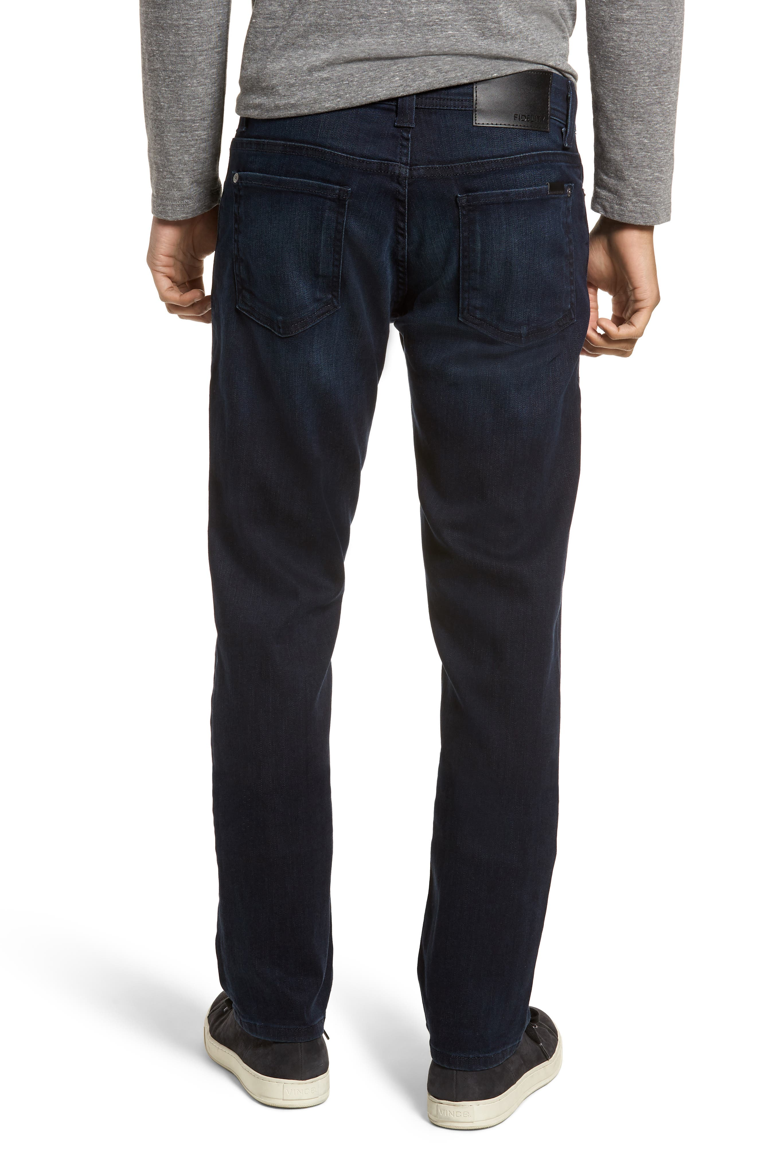 Jimmy Slim Straight Fit Jeans,                             Alternate thumbnail 2, color,                             Fade To Blue