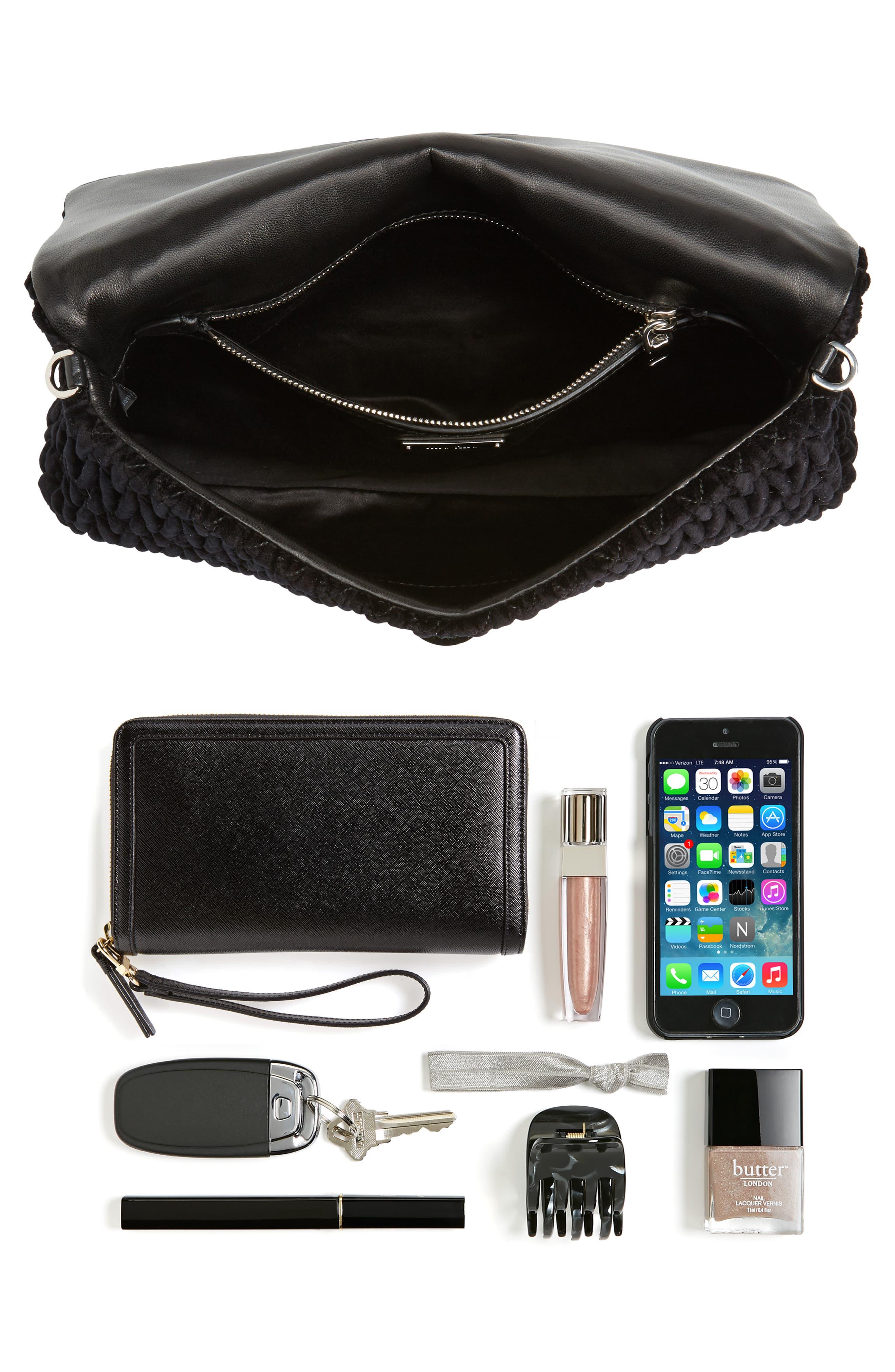 Alternate Image 8  - Miu Miu Crystal Embellished Matelassé Velvet Shoulder Bag
