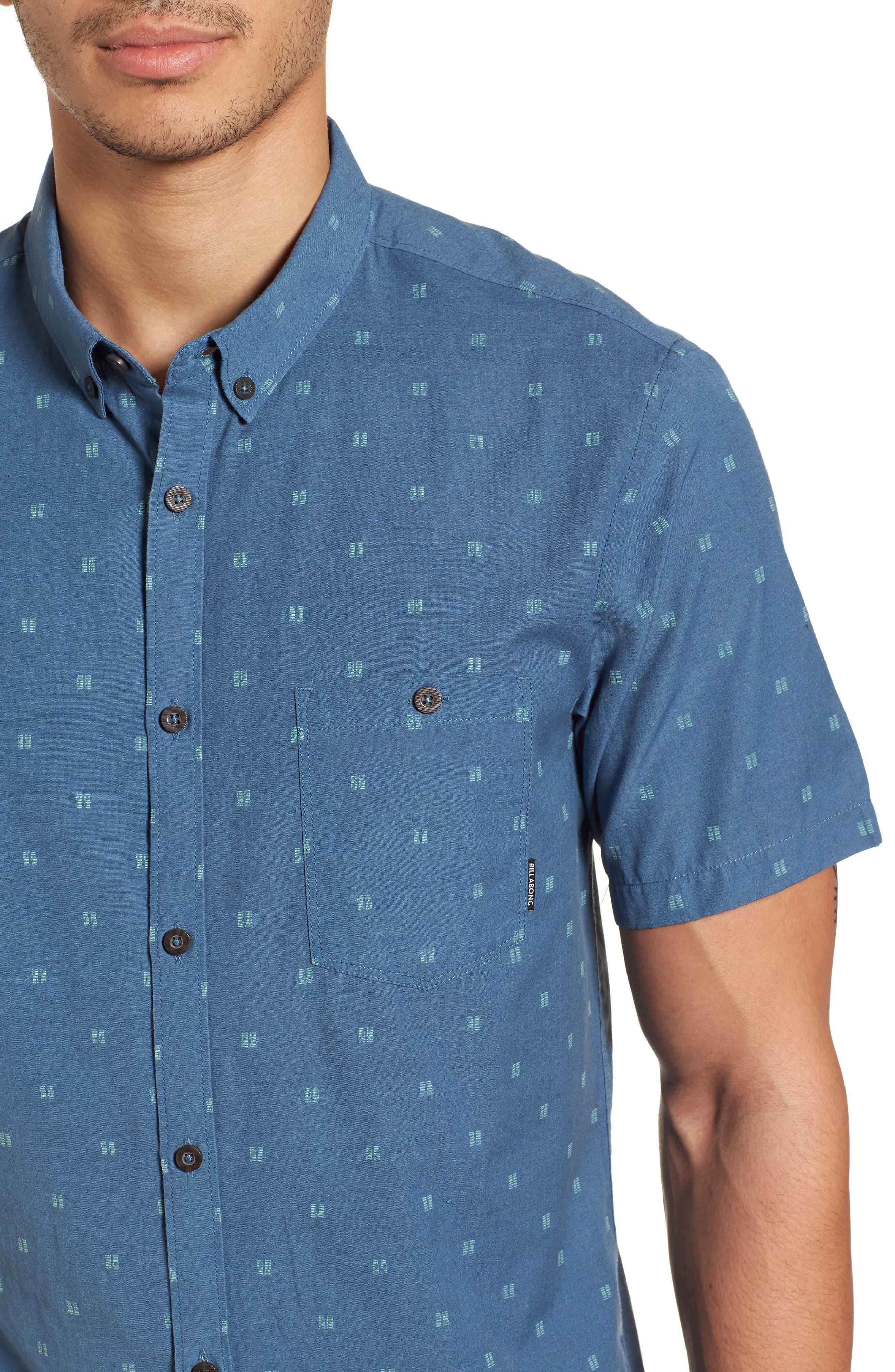 All Day Jacquard Shirt,                             Alternate thumbnail 2, color,                             Deep Blue