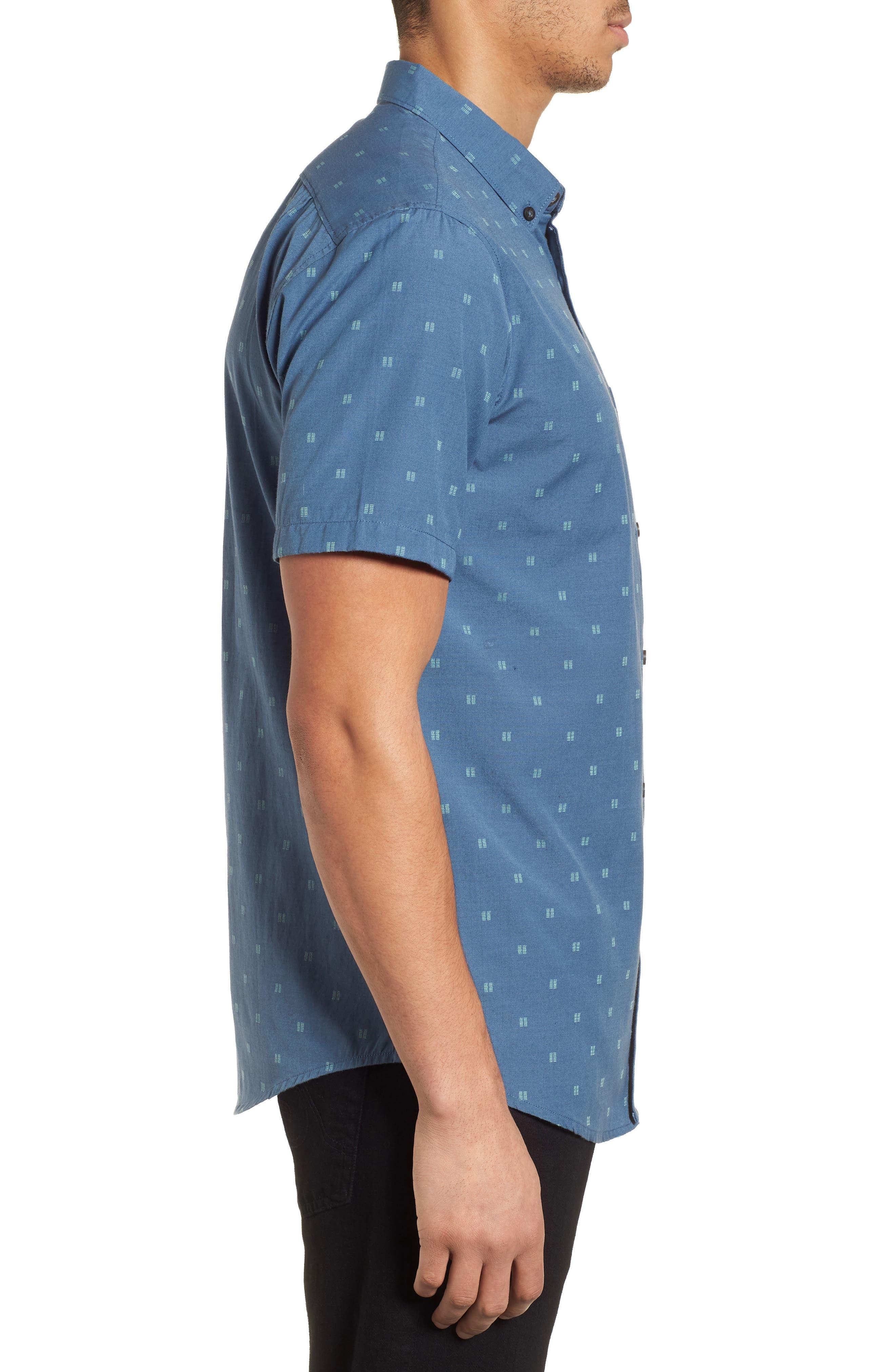 All Day Jacquard Shirt,                             Alternate thumbnail 4, color,                             Deep Blue