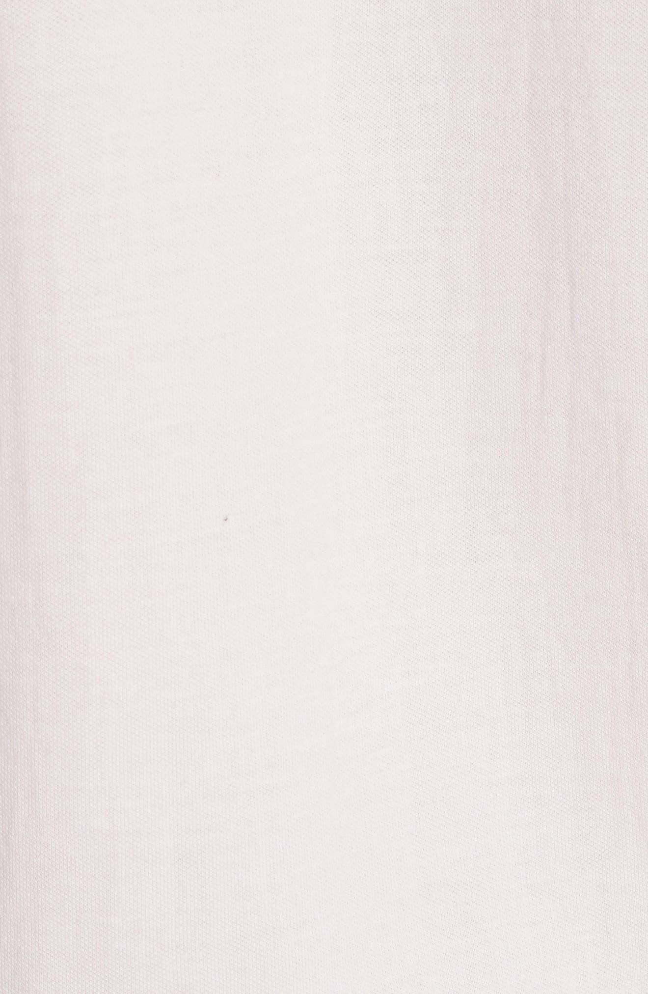 Ruffle Sleeve Sweatshirt,                             Alternate thumbnail 5, color,                             Candy Floss