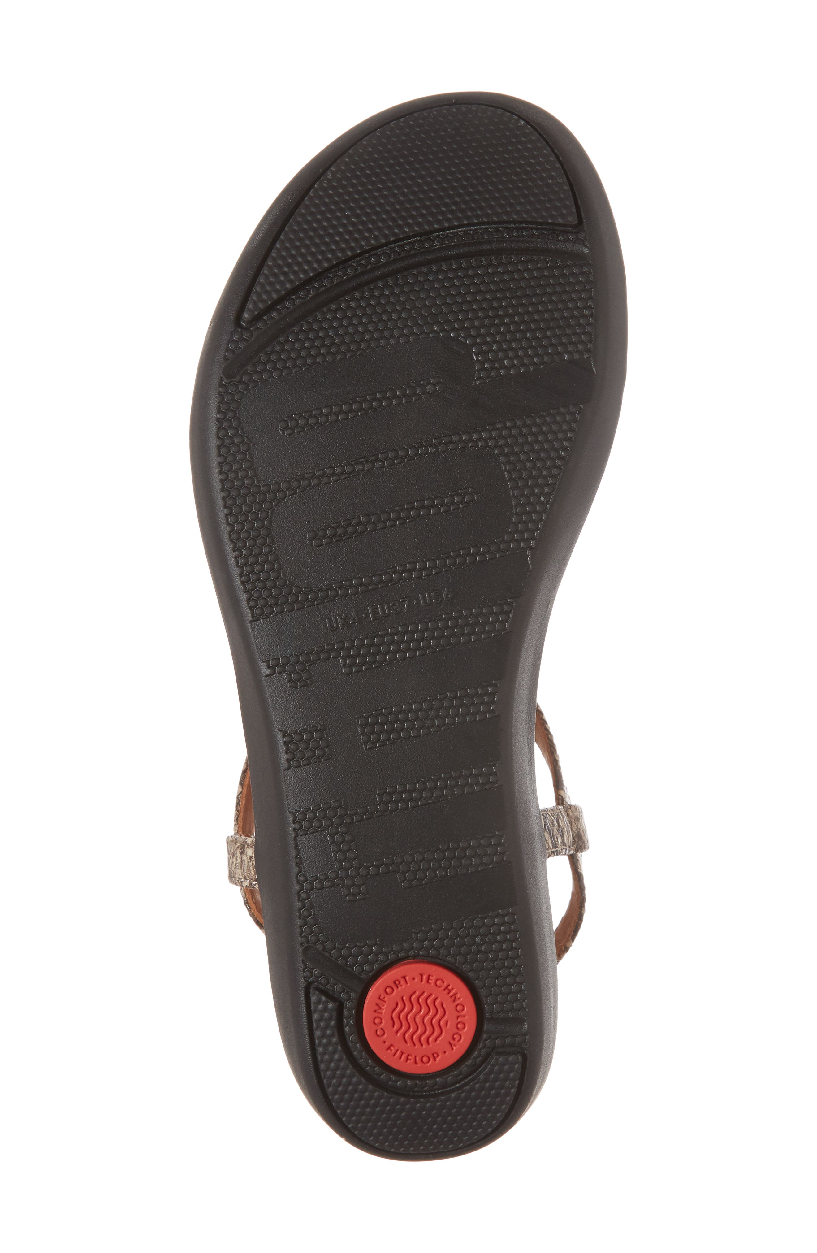 Tia Sandal,                             Alternate thumbnail 6, color,                             Taupe Snake Leather