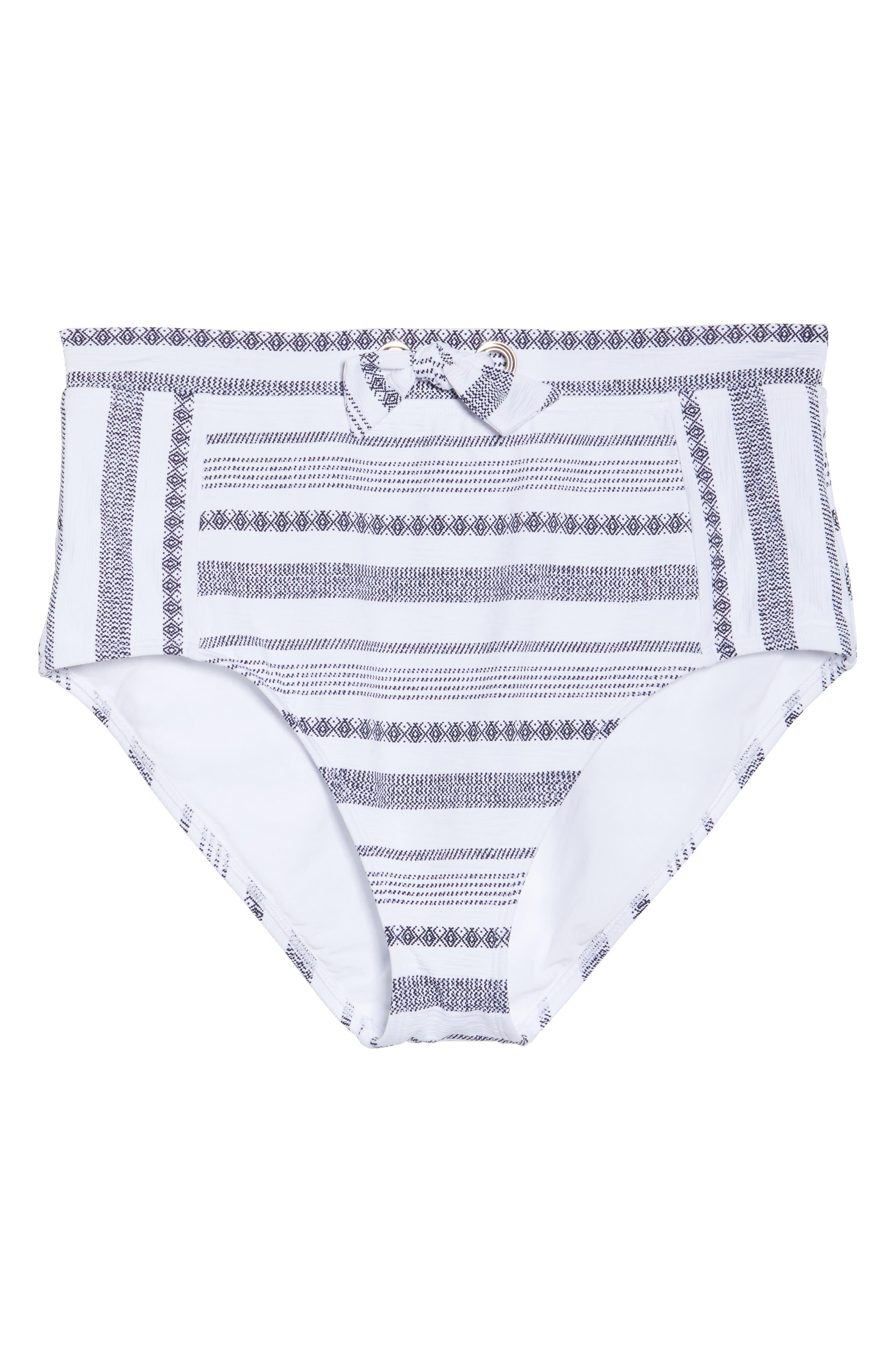 Sand Bar High Waist Bikini Bottoms,                             Alternate thumbnail 9, color,                             White