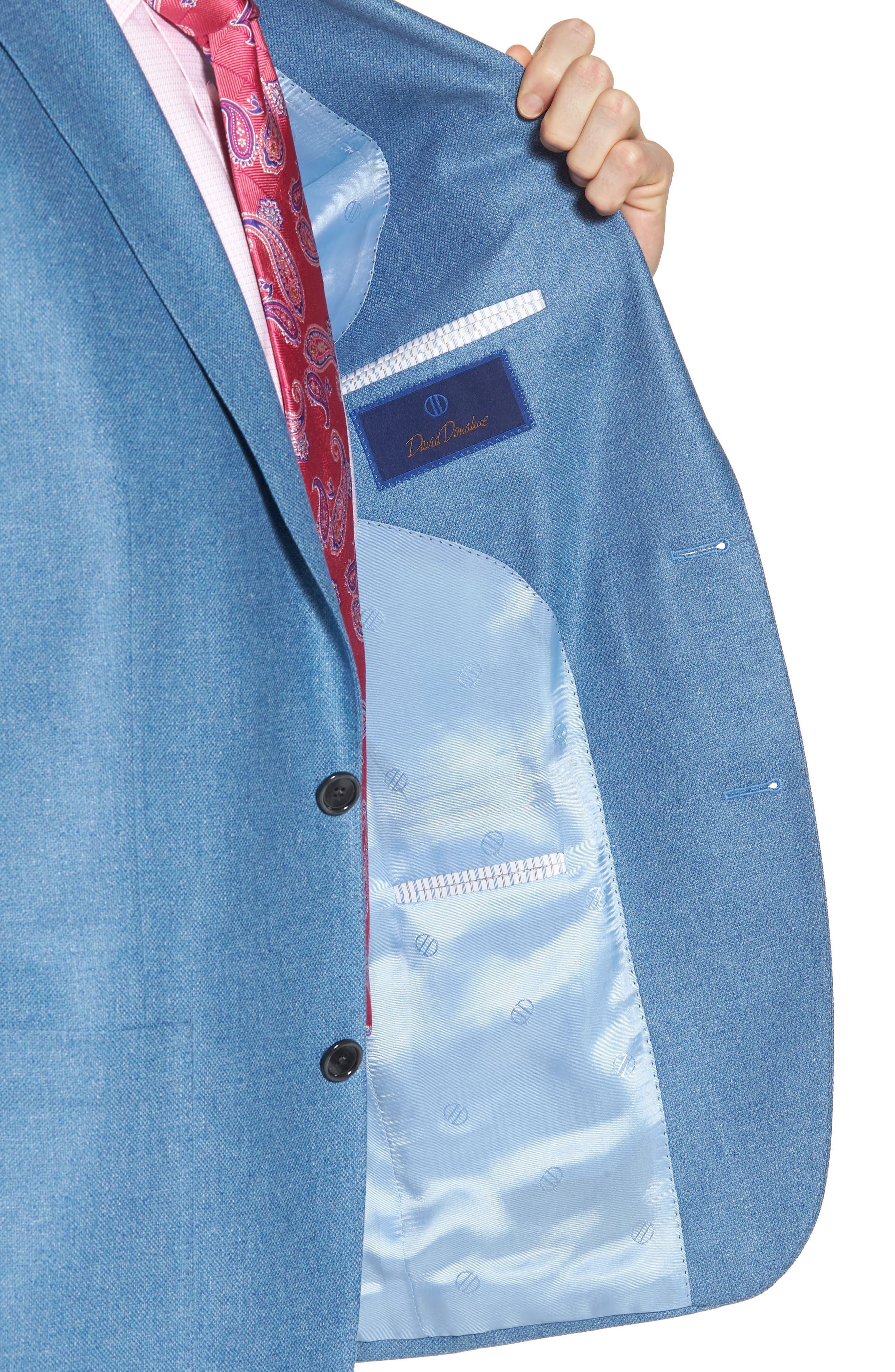 Aiden Classic Fit Silk & Wool Blazer,                             Alternate thumbnail 4, color,                             Blue