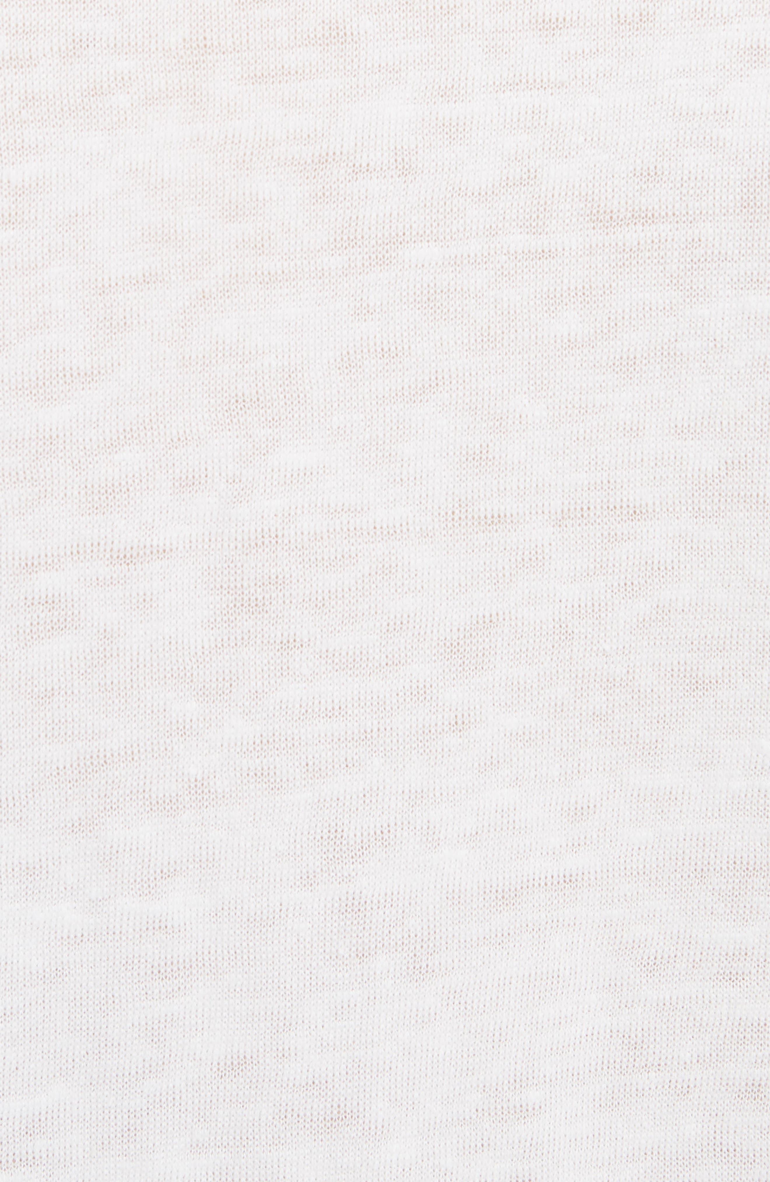 Saga Linen T-Shirt Dress,                             Alternate thumbnail 5, color,                             Optic White