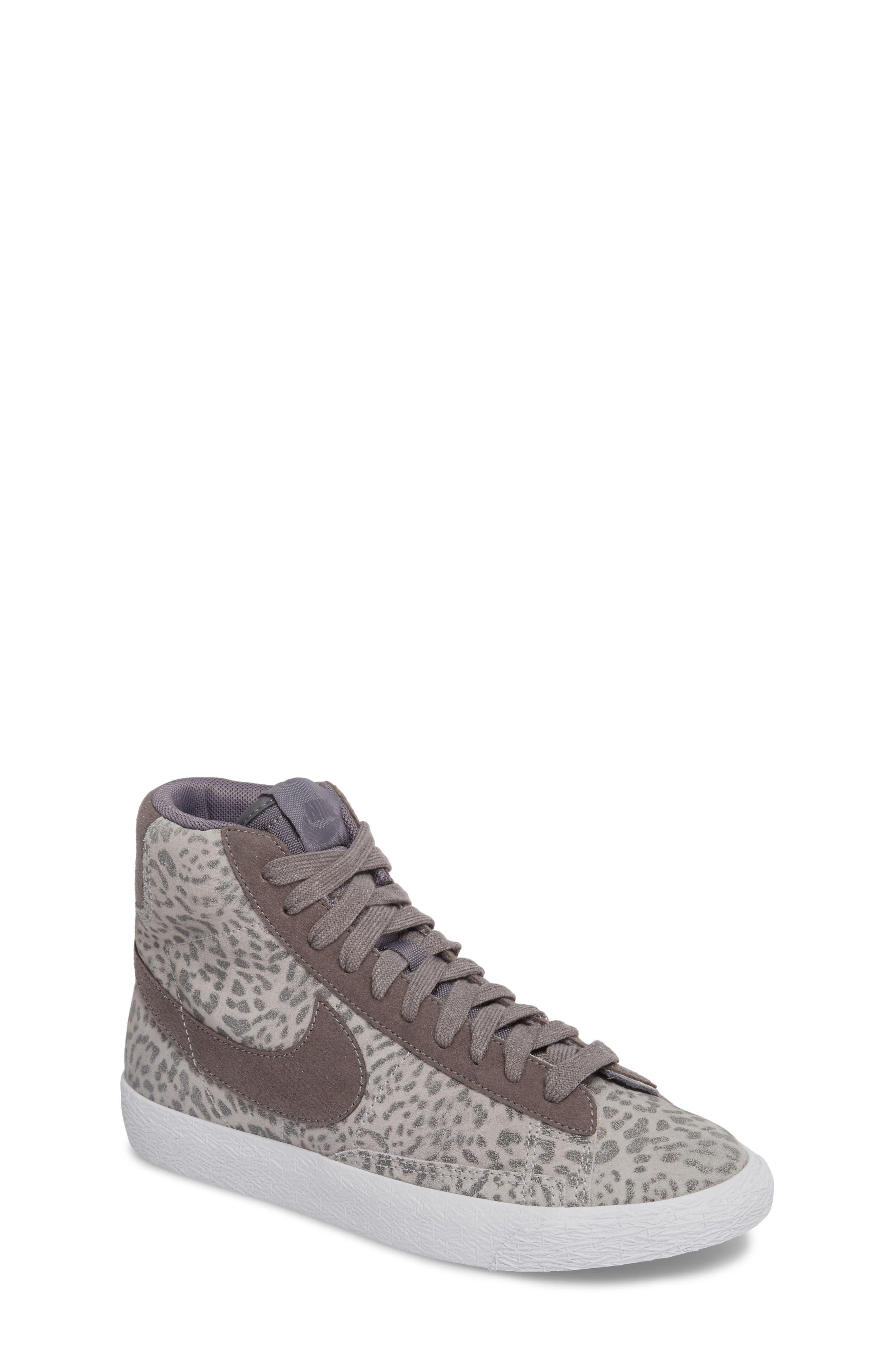 Blazer Mid SE High Top Sneaker,                             Main thumbnail 1, color,                             Atmosphere Grey/ Smoke/ Gum