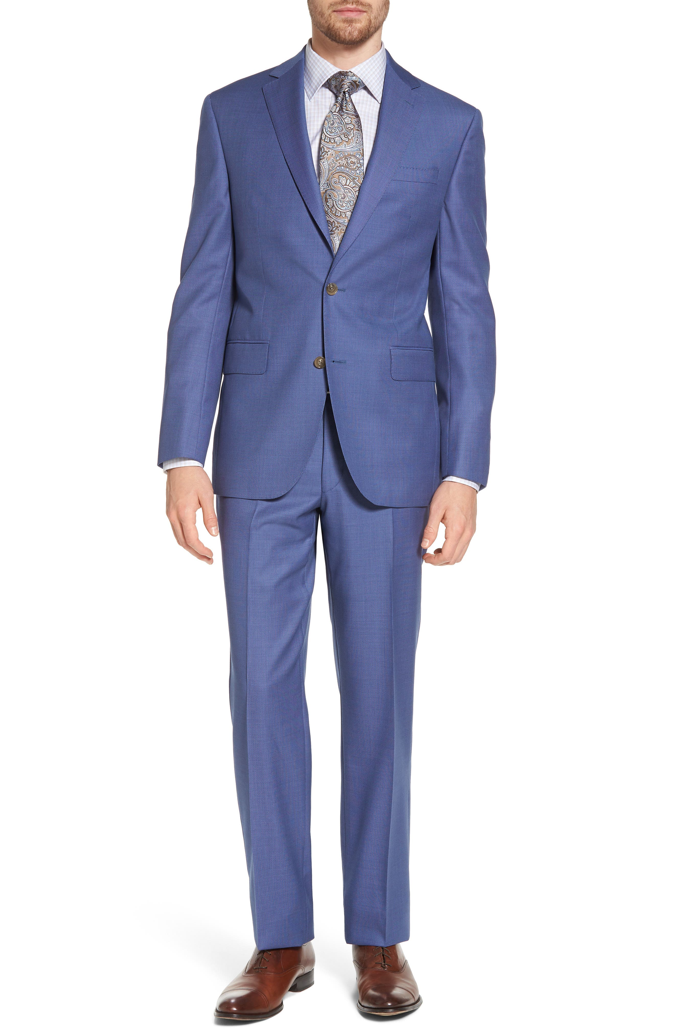 Ryan Classic Fit Solid Wool Suit,                         Main,                         color, Blue