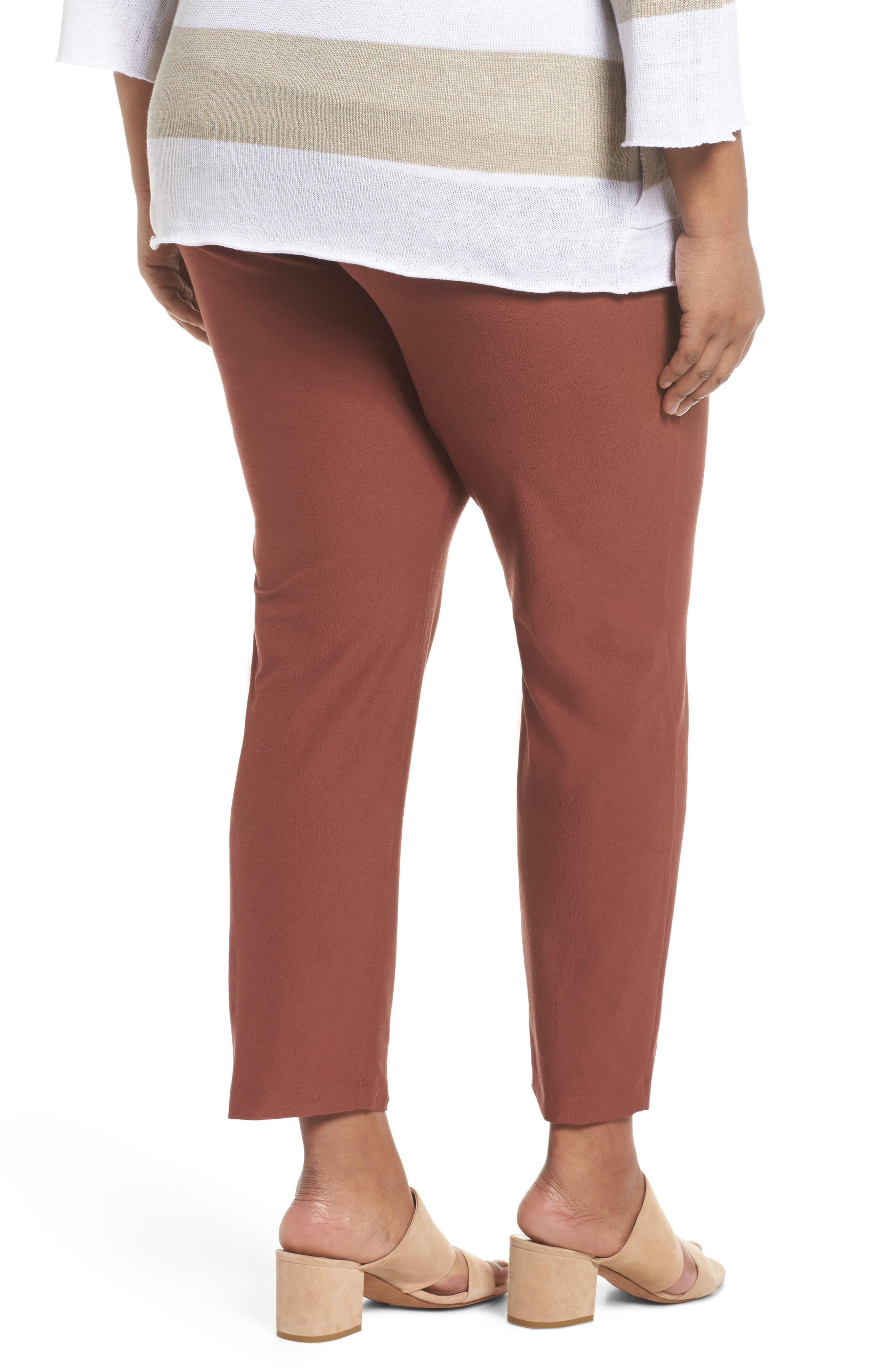 Slim Ankle Pants,                             Alternate thumbnail 2, color,                             Russet