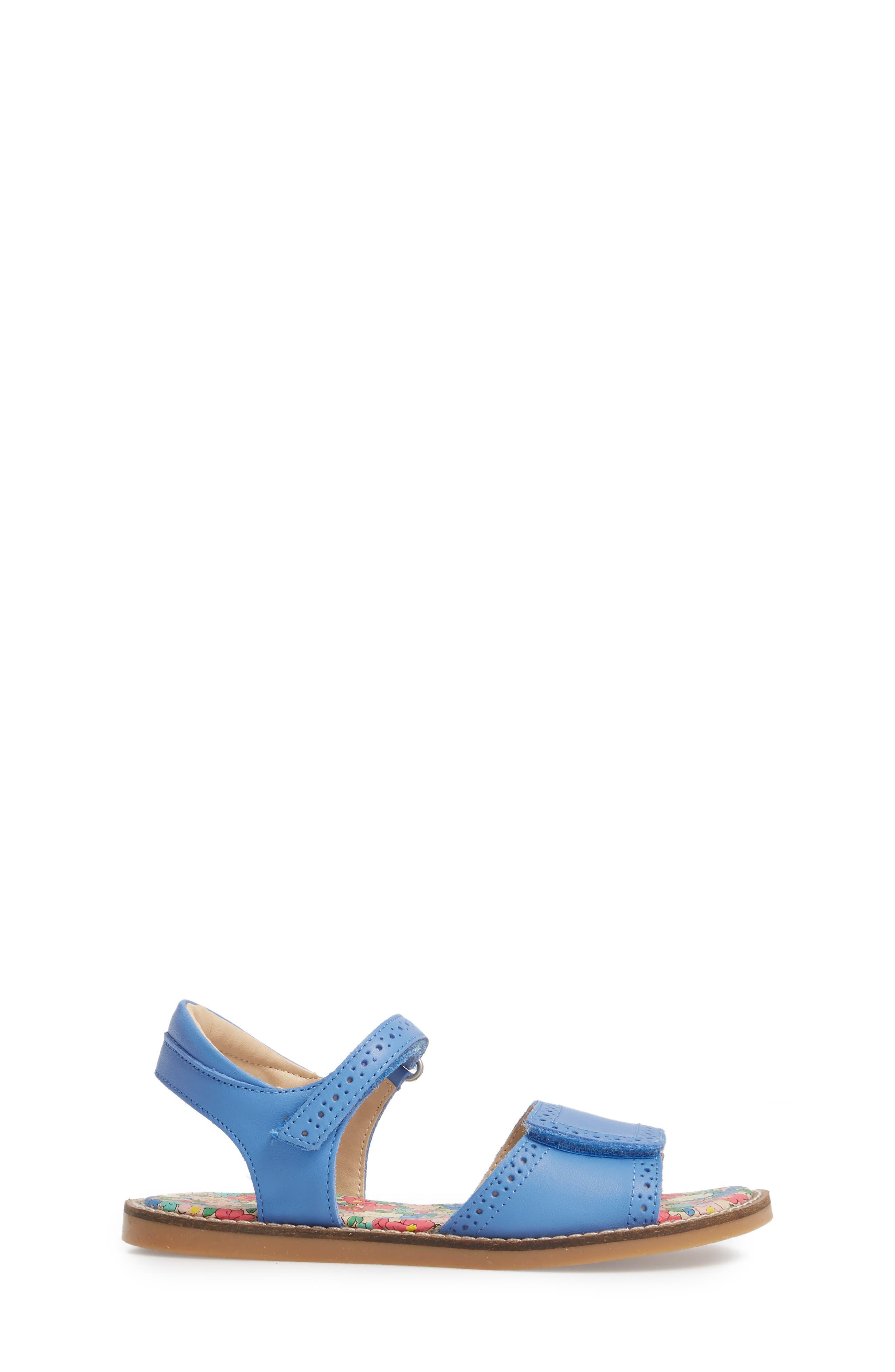 Adjustable Quarter Strap Sandal,                             Alternate thumbnail 3, color,                             Penzance Blue
