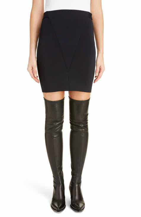Givenchy Seamed Punto Milano Miniskirt by GIVENCHY