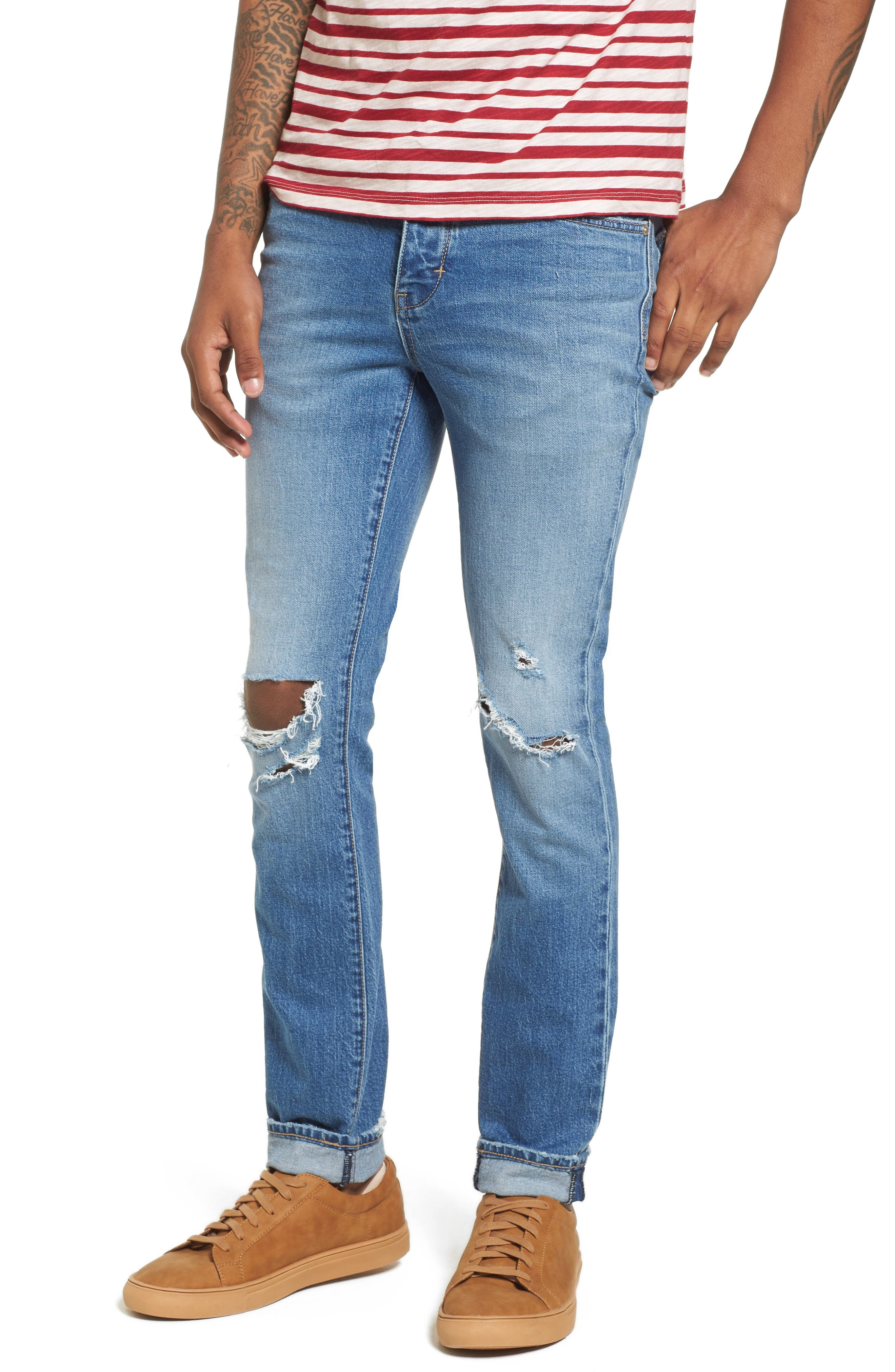 Iggy Skinny Fit Jeans,                             Main thumbnail 1, color,                             Broken Collector
