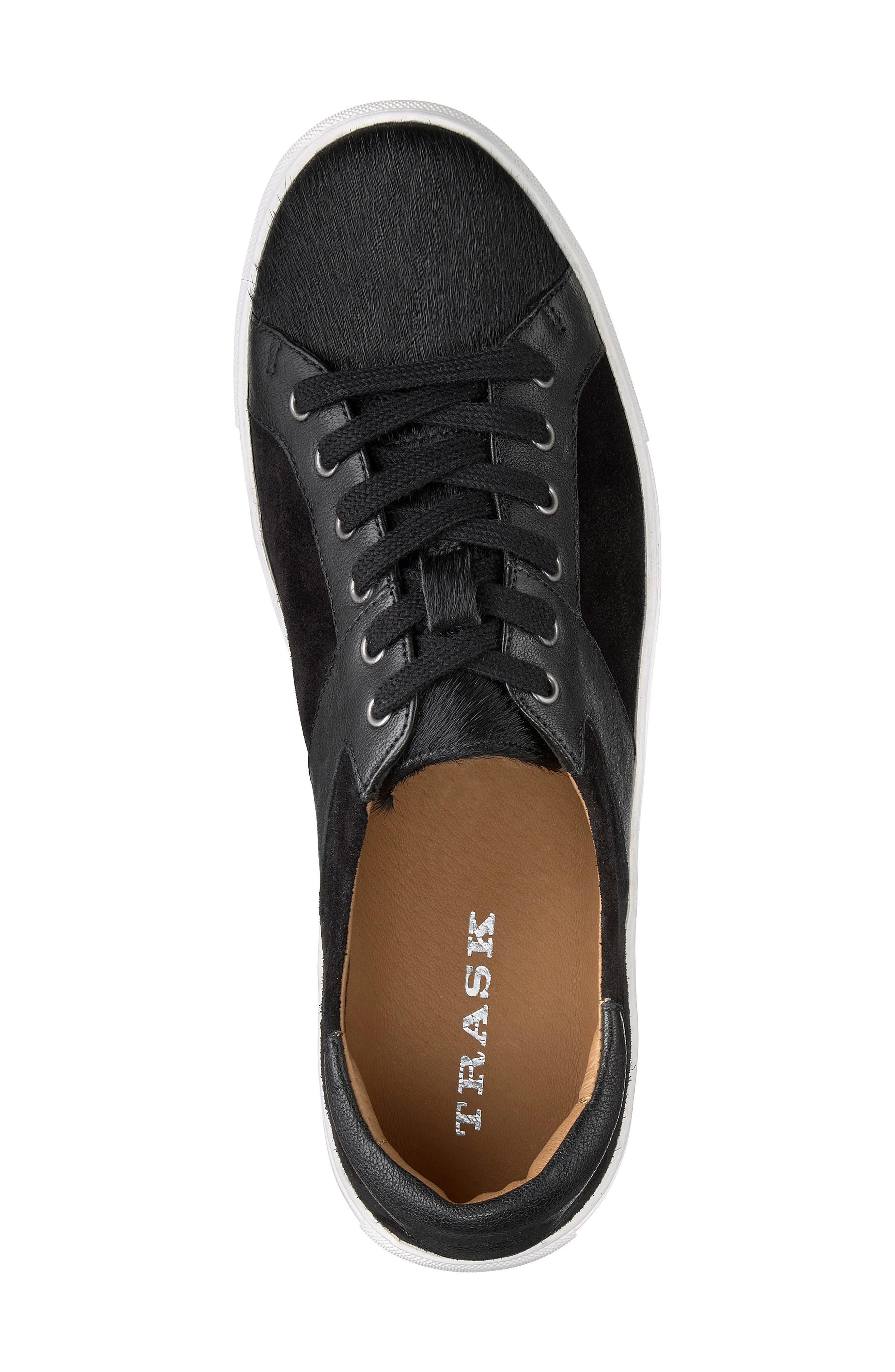 Lindsey Genuine Calf Hair Sneaker,                             Alternate thumbnail 5, color,                             Black Calfhair