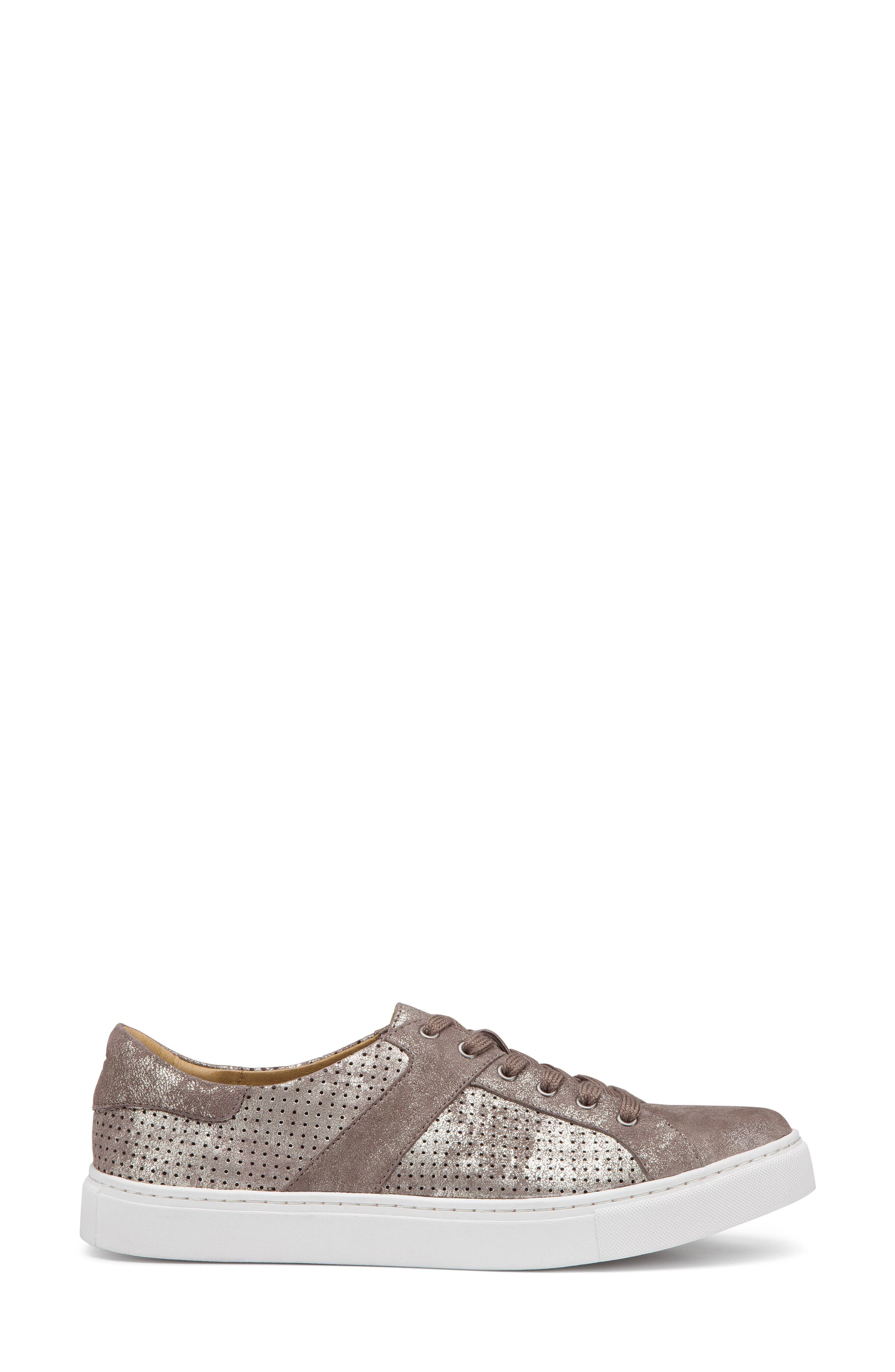 Lindsey Sneaker,                             Alternate thumbnail 3, color,                             Pewter Suede