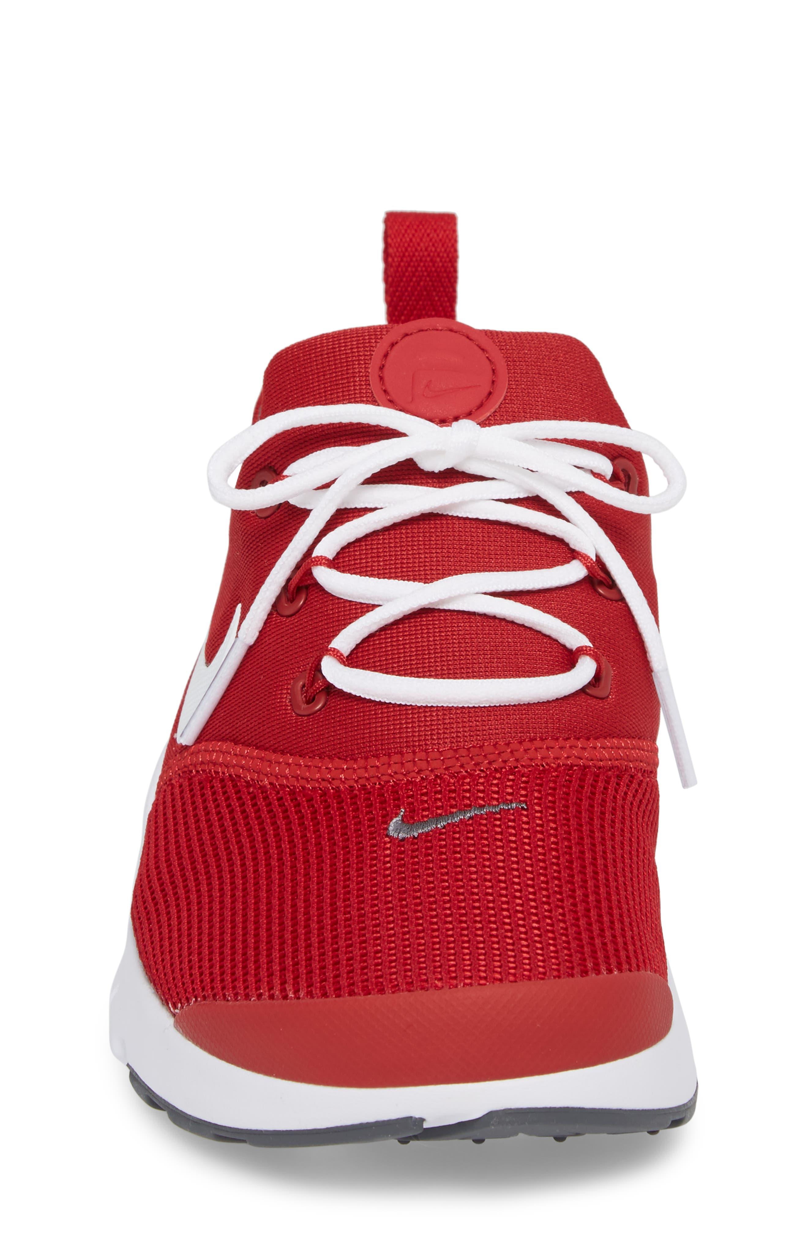 Presto Fly Sneaker,                             Alternate thumbnail 4, color,                             Gym Red/ Dark Grey/ White