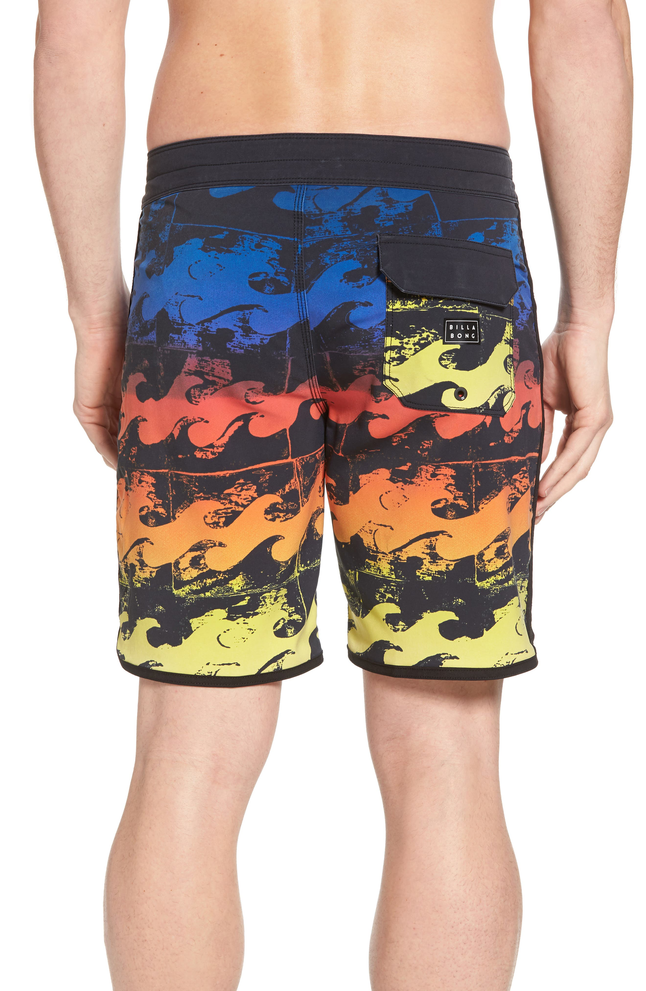 73 X Lineup Board Shorts,                             Alternate thumbnail 2, color,                             Neon