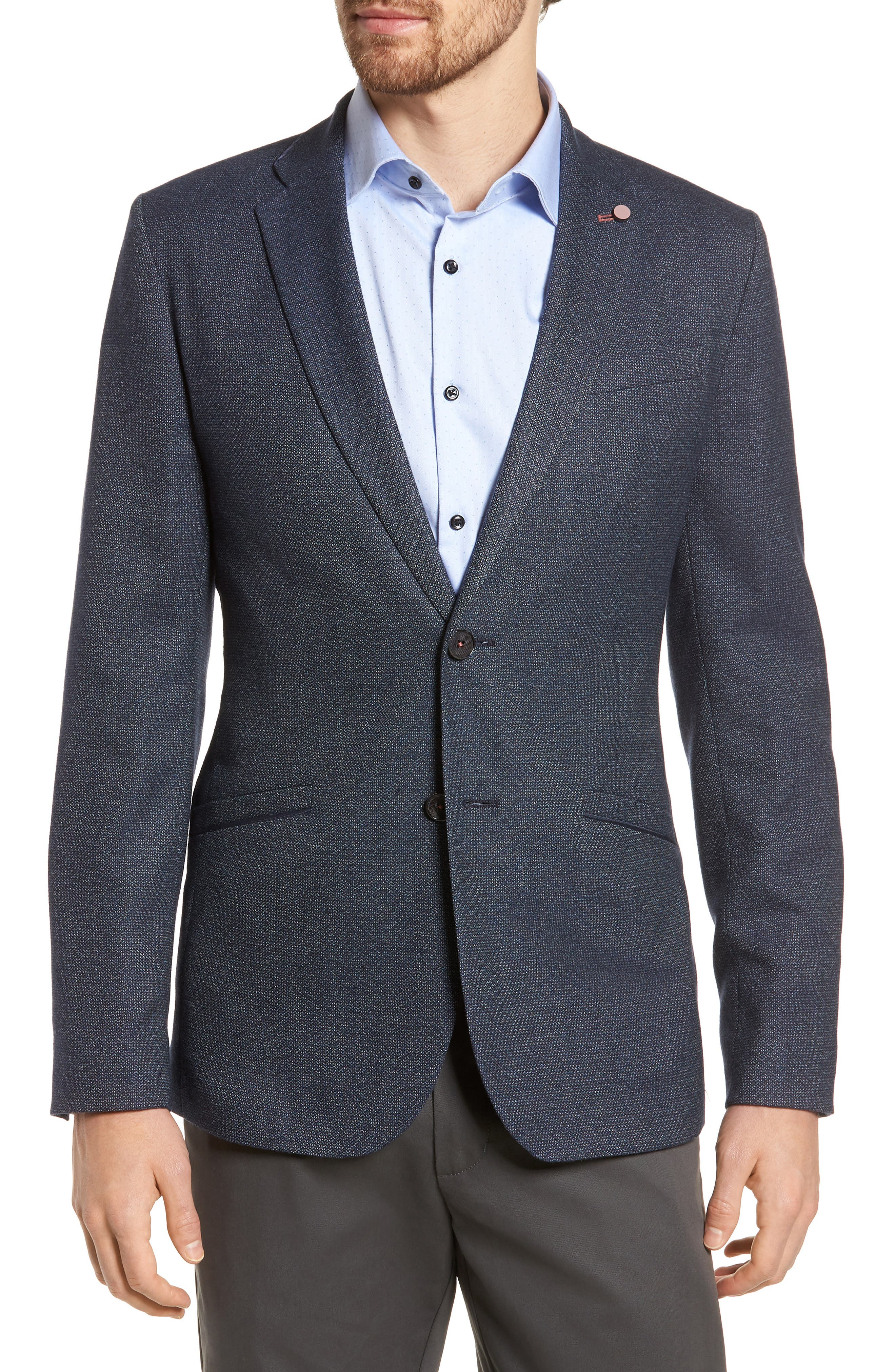Alternate Image 1 Selected - Ted Baker London Burke Semi Plain Trim Fit Jacket
