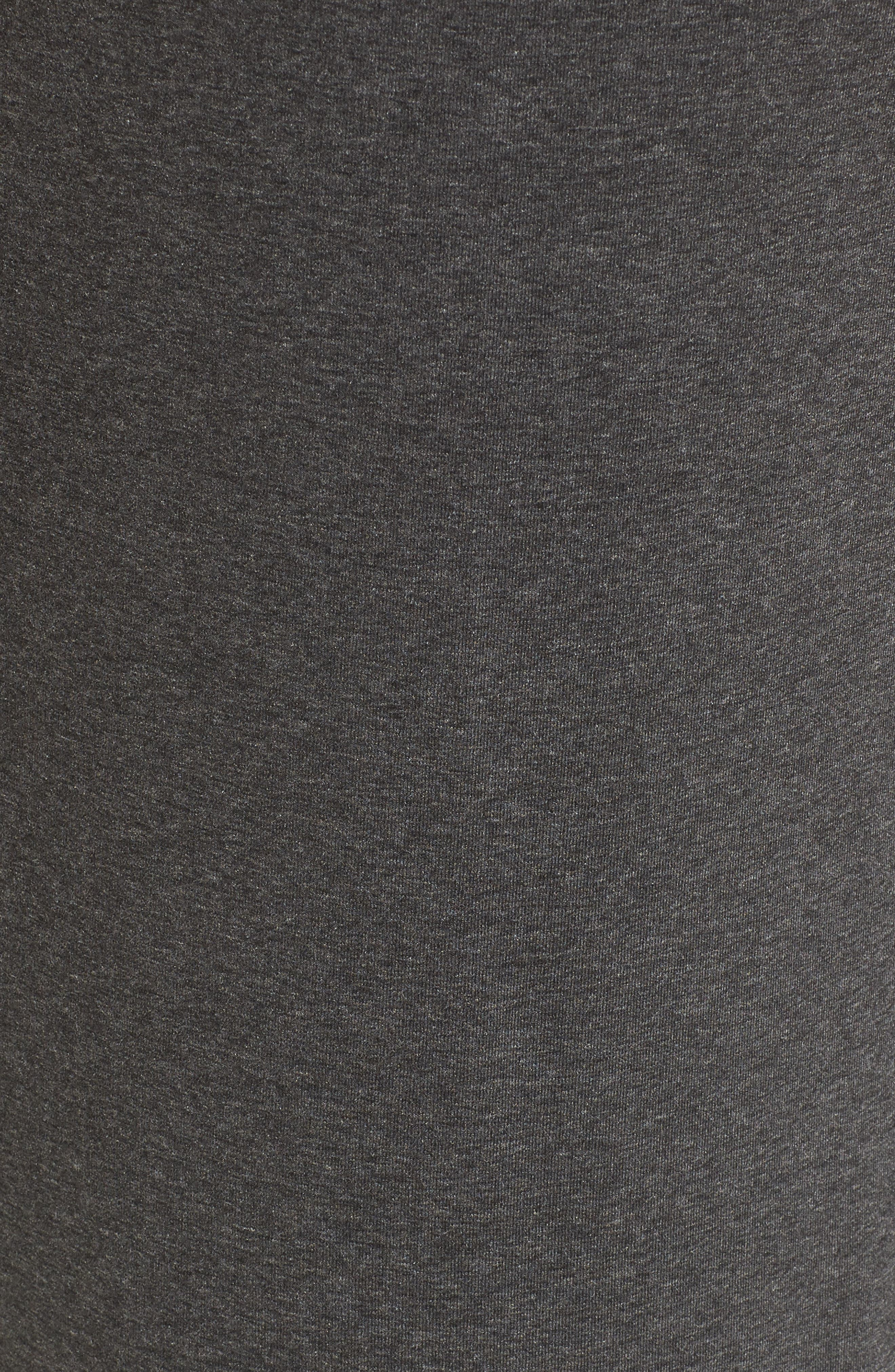 Ivybridge Jersey Maternity Dress,                             Alternate thumbnail 5, color,                             Dark Grey Marl