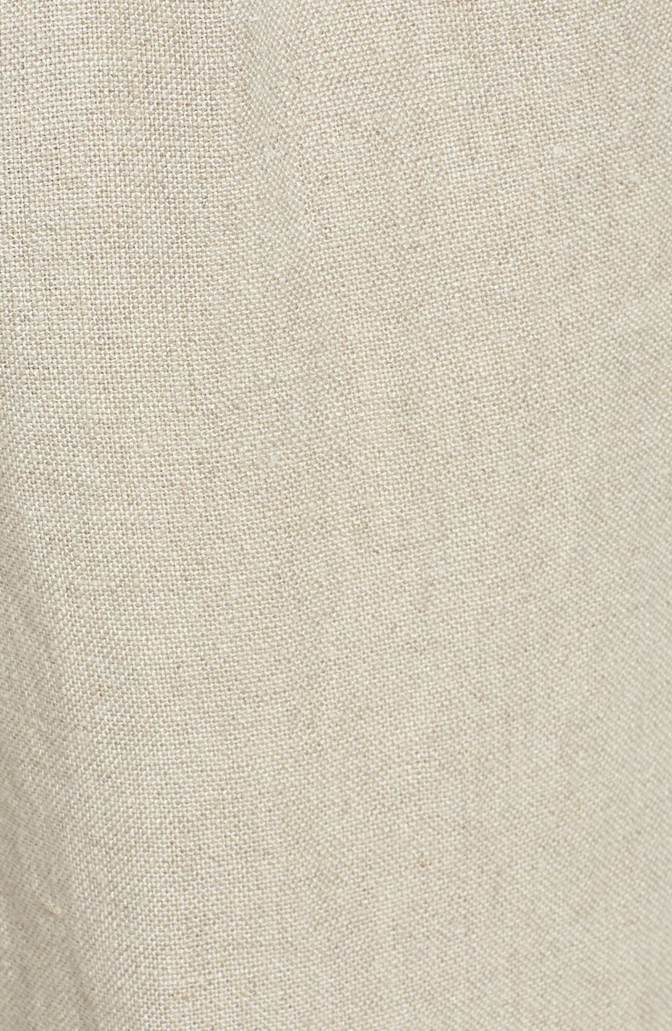 Rolled Organic Linen Shorts,                             Alternate thumbnail 5, color,                             Undyed Natural