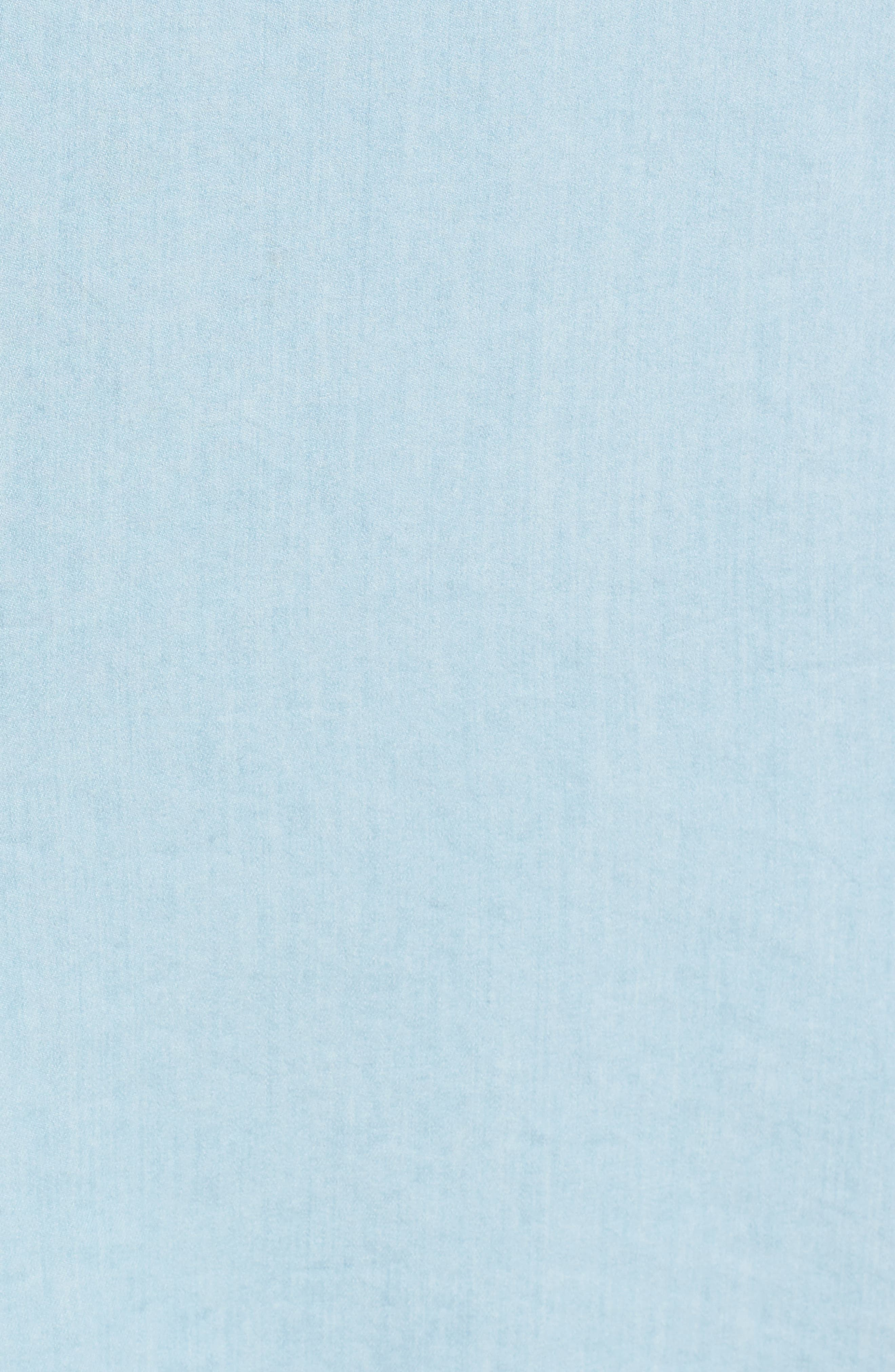 Embroidered Chambray Shift,                             Alternate thumbnail 5, color,                             Spectrum Wash